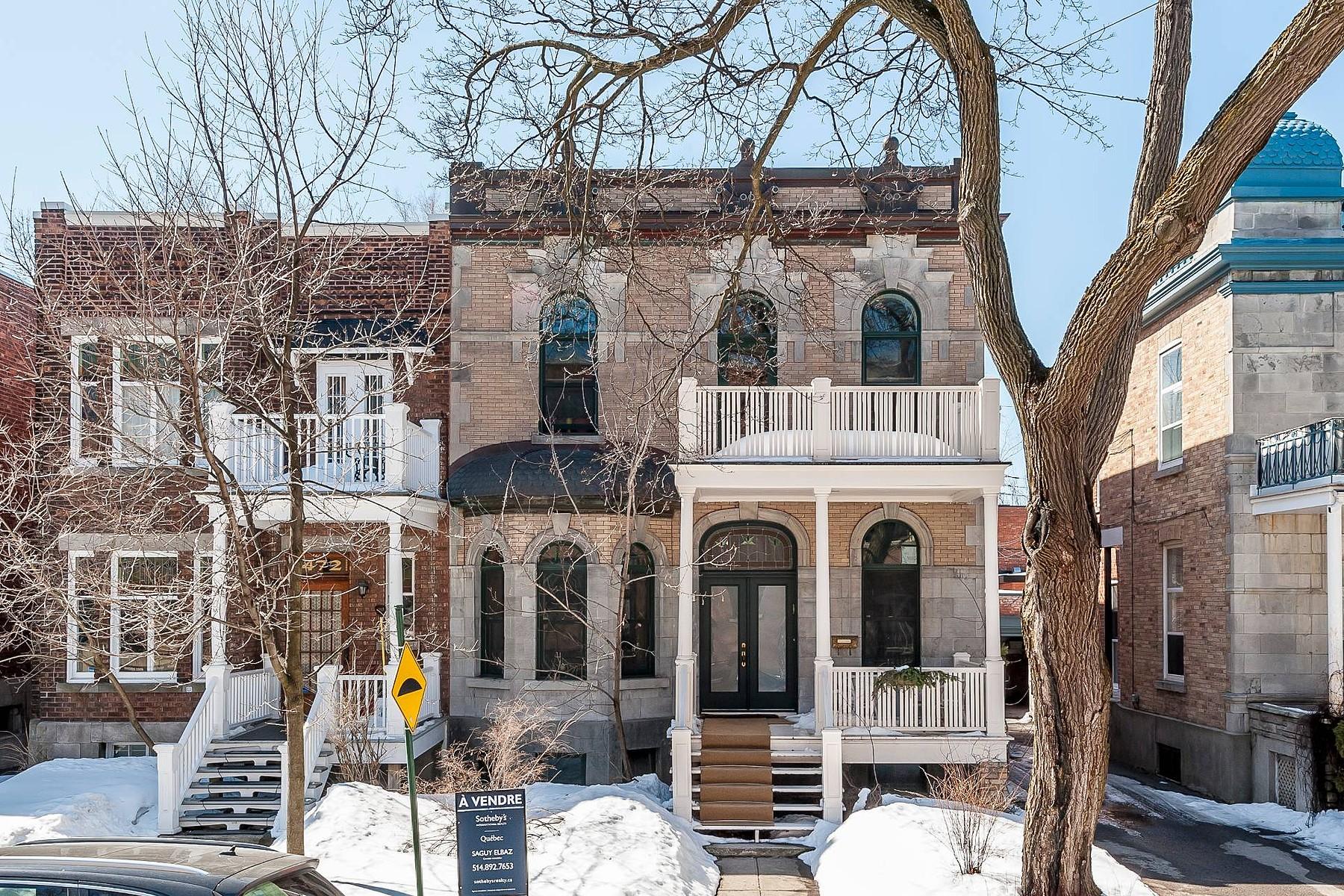 Частный односемейный дом для того Продажа на Outremont, Montréal 474 Av. Bloomfield Outremont, Квебек H2V3R8 Канада