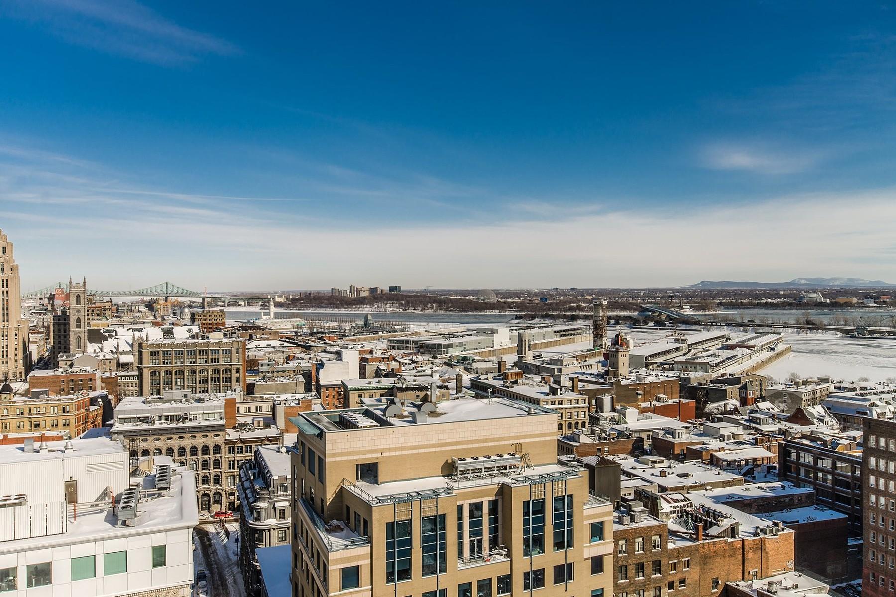 단독 가정 주택 용 매매 에 Ville-Marie (Montréal), Montréal 650 Rue Notre-Dame O., Apt. PH1801 Montreal, 퀘벡주 H3C1J2 캐나다