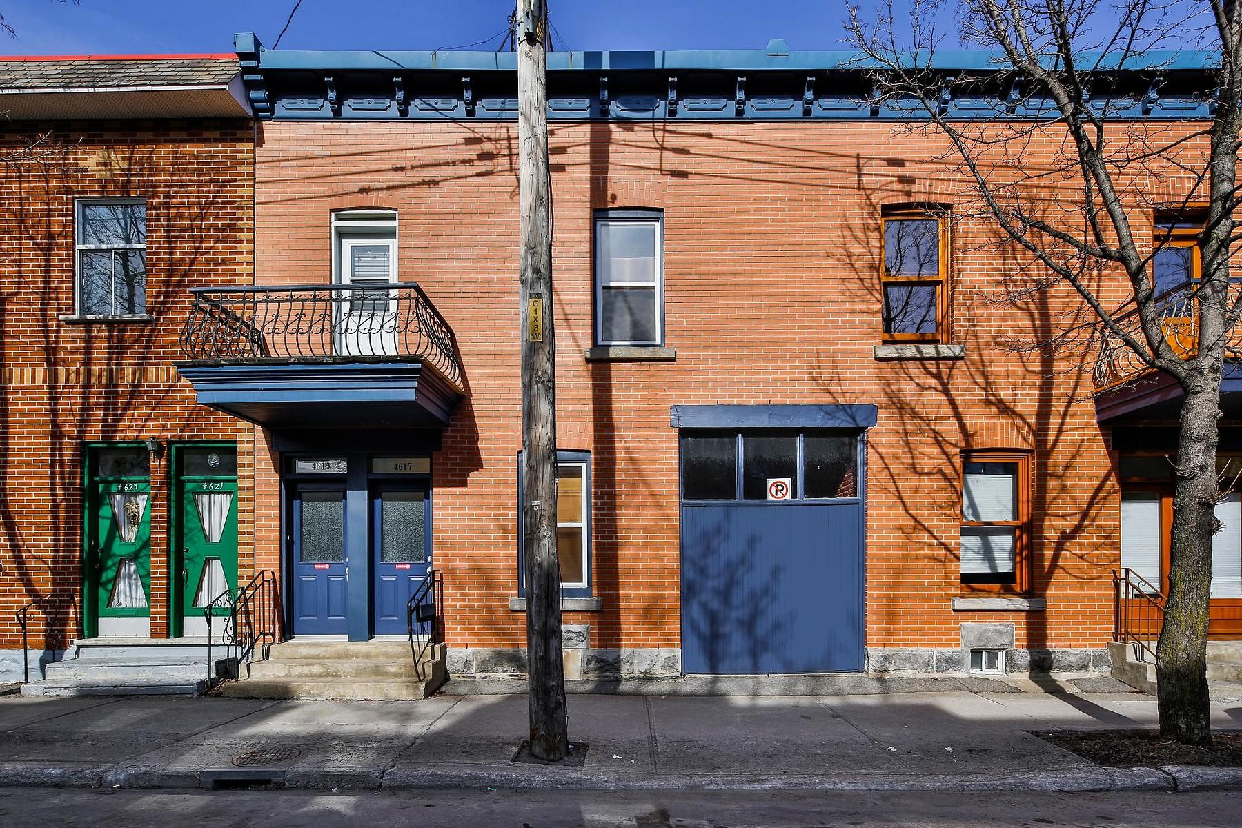 Casa Unifamiliar por un Venta en Le Plateau-Mont-Royal, Montréal 4617 Av. Coloniale Le Plateau Mont Royal, Quebec, H2T1W1 Canadá