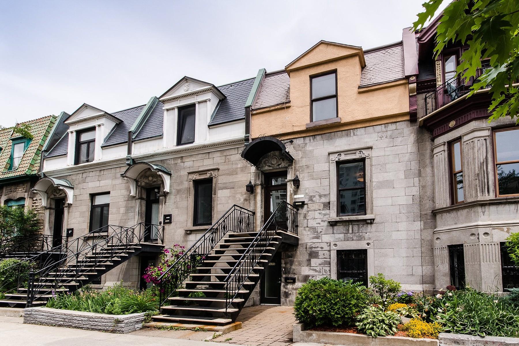 Разнобразная частная недвижимость для того Продажа на Le Plateau-Mont-Royal (Montréal), Montréal 3431 Rue St-Hubert Montreal, Квебек H2L3Z8 Канада