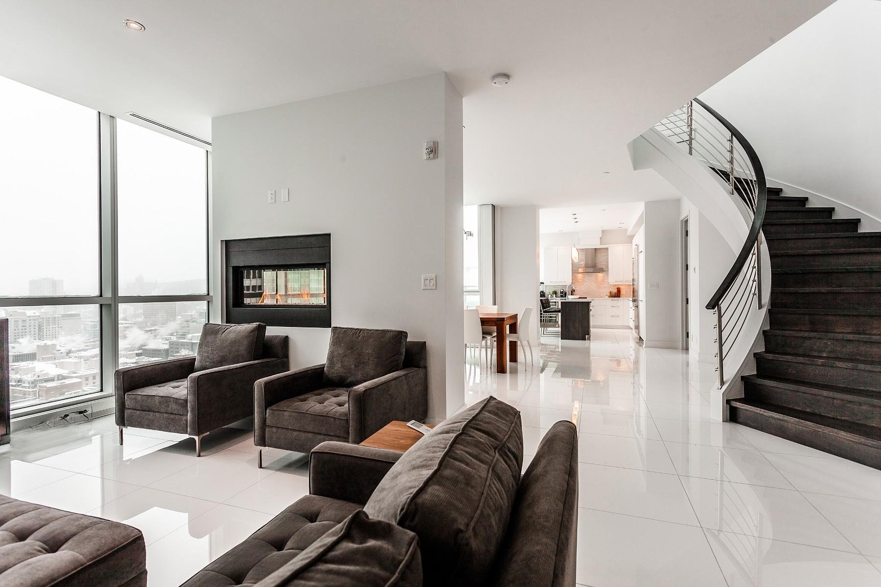 独户住宅 为 销售 在 Spectacular Penthouse 1225 Boul. Robert-Bourassa, Apt. PH3202 Other Quebec, 魁北克省 H3B9A9 加拿大