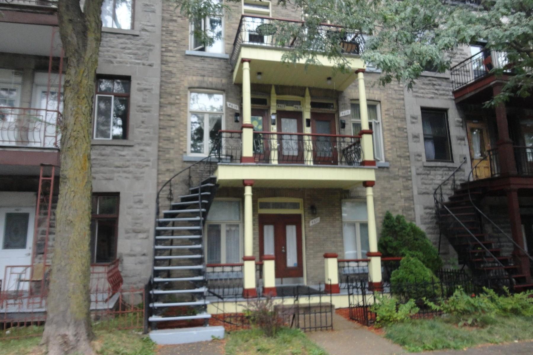Частный односемейный дом для того Продажа на Le Plateau-Mont-Royal (Montréal), Montréal 4611 Rue Fabre Montreal, Квебек H2J3V7 Канада
