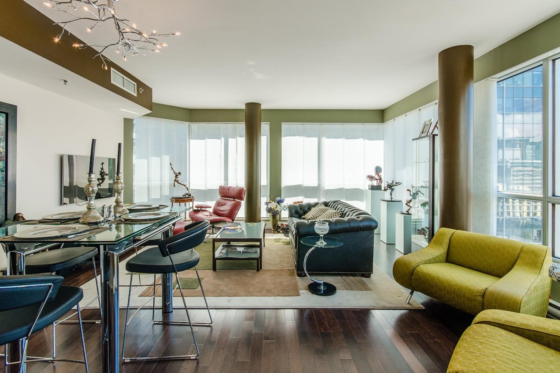 Casa para uma família para Venda às Ville-Marie (Montréal), Montréal 1100 Rue de la Montagne, Apt. 1404 Montreal, Quebec H3G0A2 Canadá