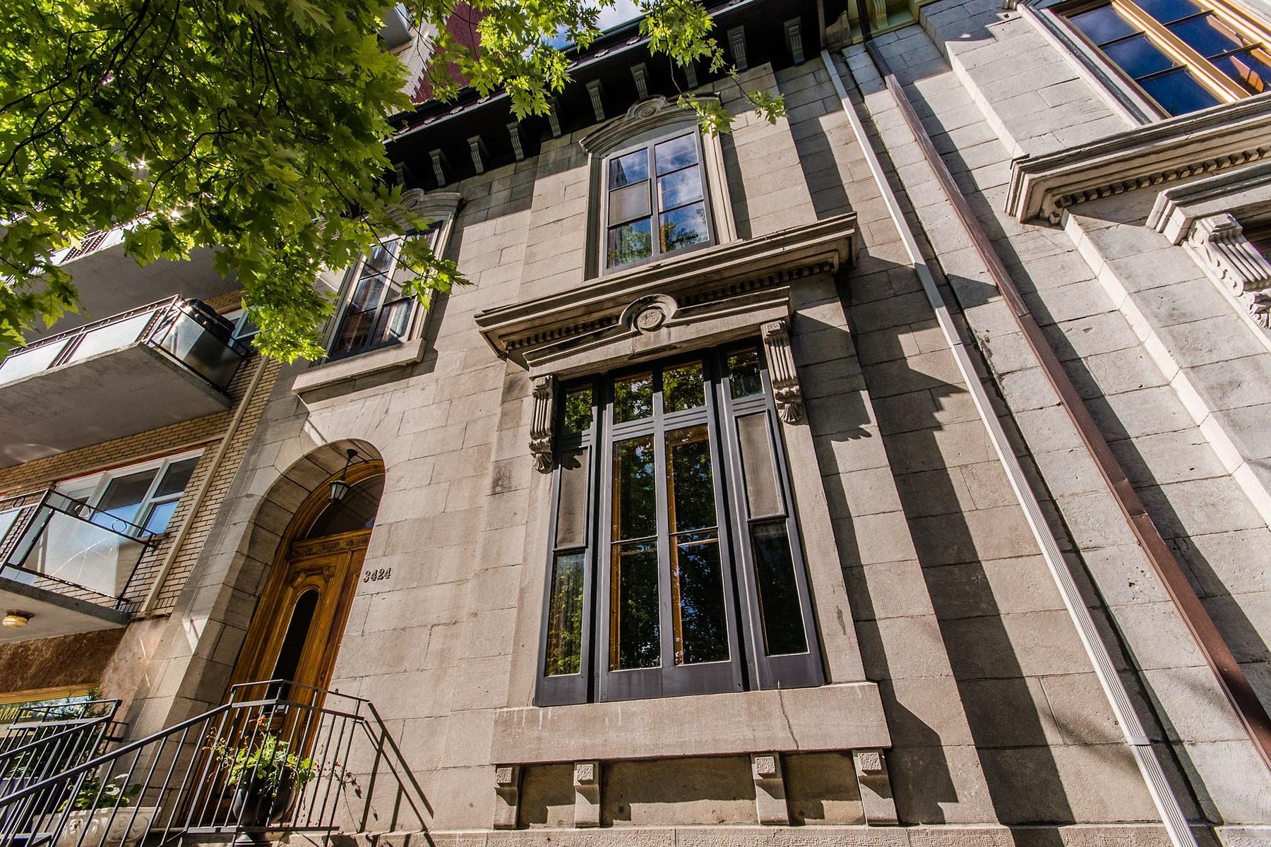 Частный односемейный дом для того Продажа на Le Plateau-Mont-Royal (Montréal), Montréal 3424 Rue Ste-Famille Montreal, Квебек H2X2K8 Канада