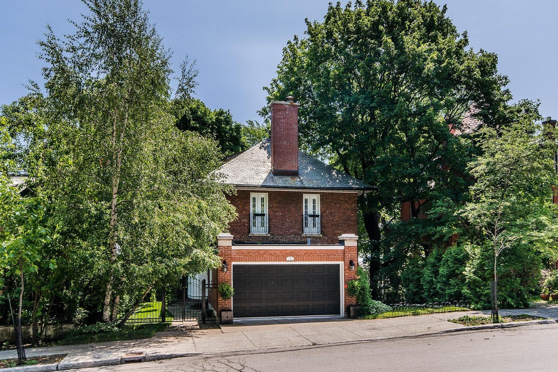 단독 가정 주택 용 매매 에 Ville-Marie (Montréal), Montréal 3066 Av. de Trafalgar Montreal, 퀘벡주 H3Y1H4 캐나다