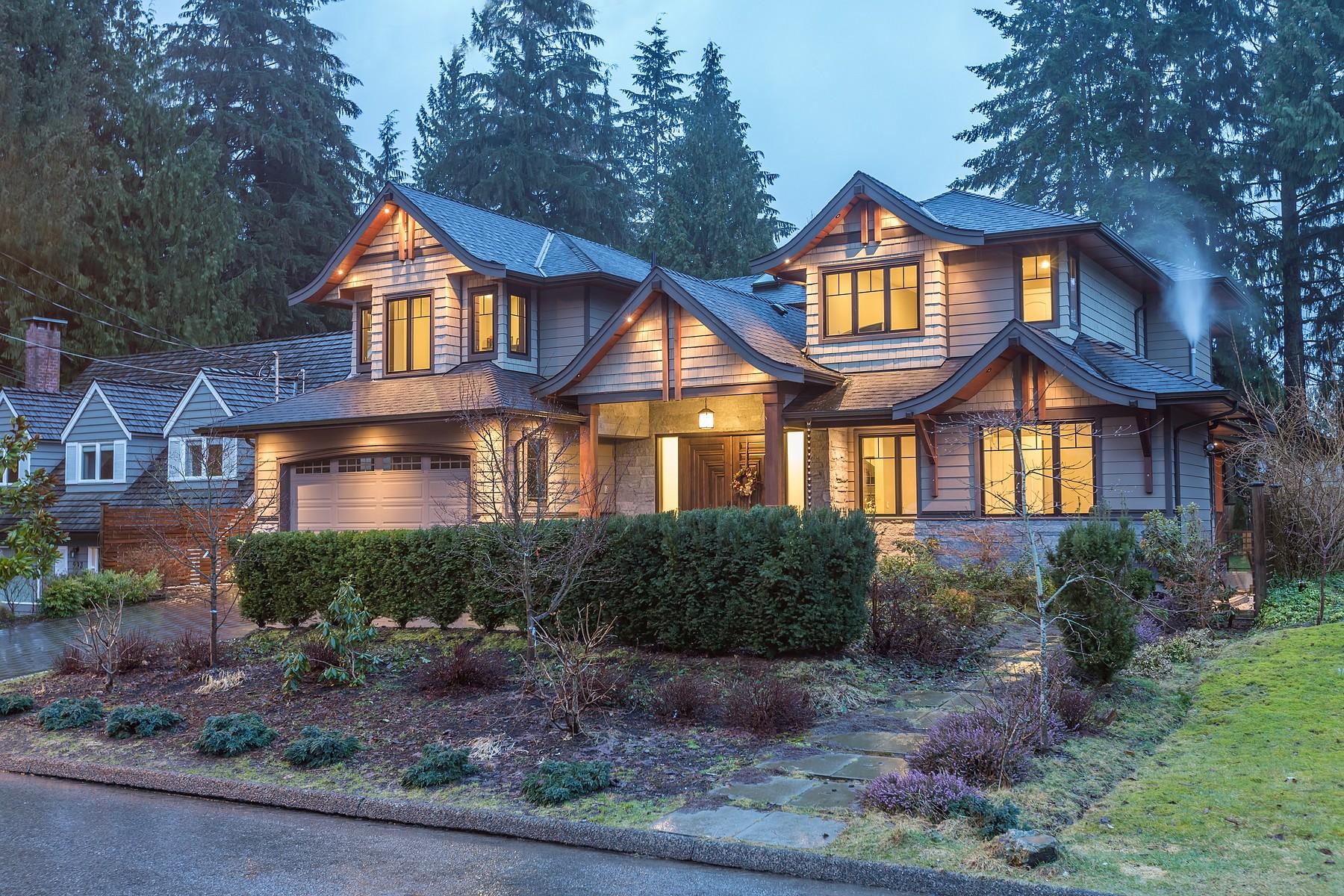 Частный односемейный дом для того Продажа на Fabulous Custom Build 1001 Prospect Avenue North Vancouver, Британская Колумбия, V7R 2M5 Канада