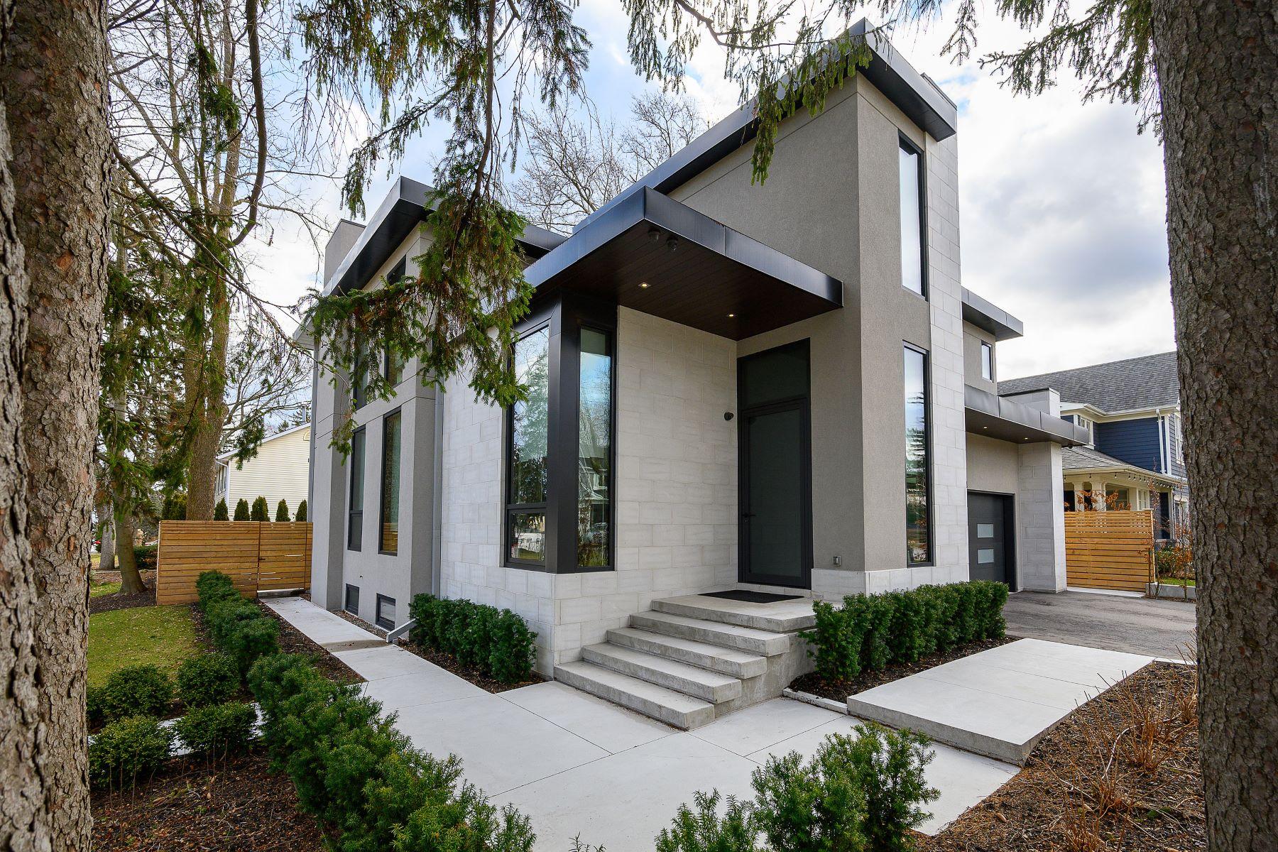 Single Family Homes for Sale at Modern Custom Steps to Lake 104 Burnet Street Oakville, Ontario L6K 1C1 Canada