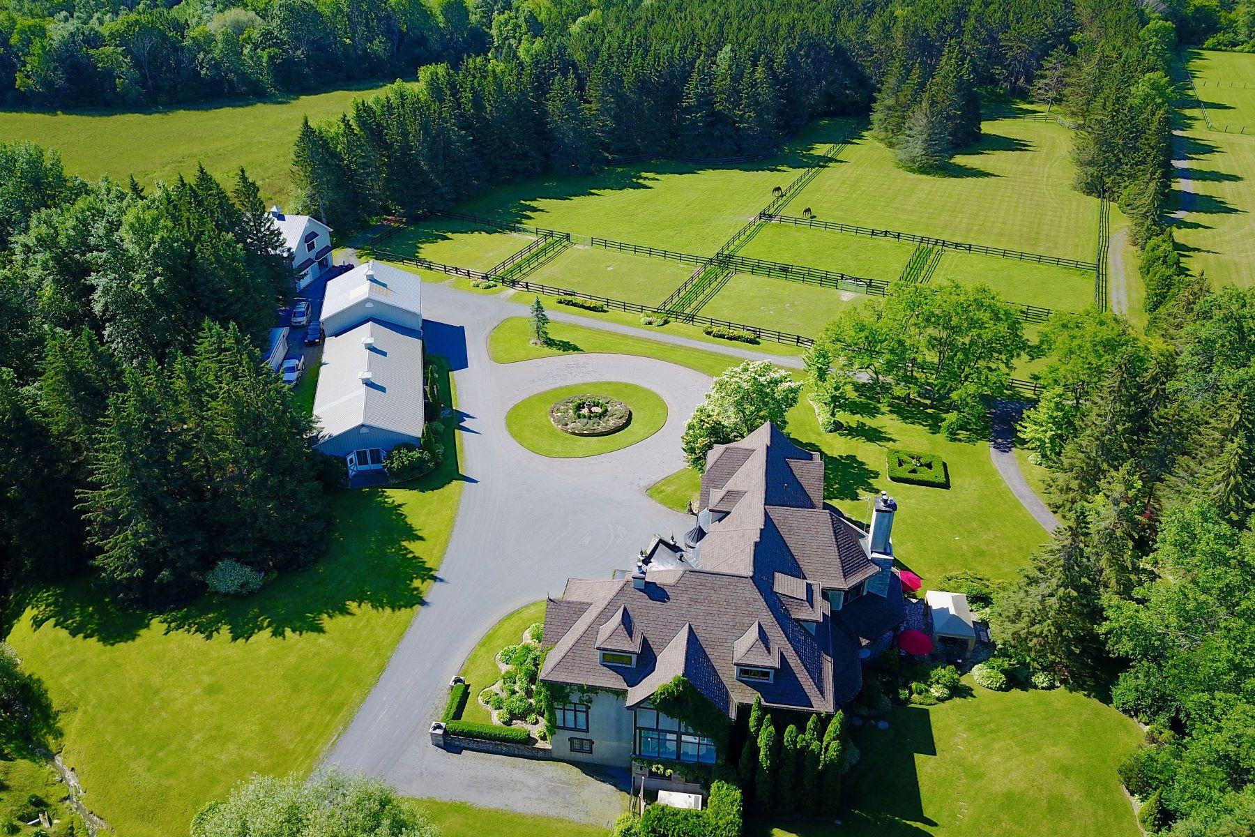 Farm / Ranch / Plantation for Sale at Luxurious Polo Estate 155A Ch. St-Henri, Sainte-Marthe, Quebec, J0P1W0 Canada