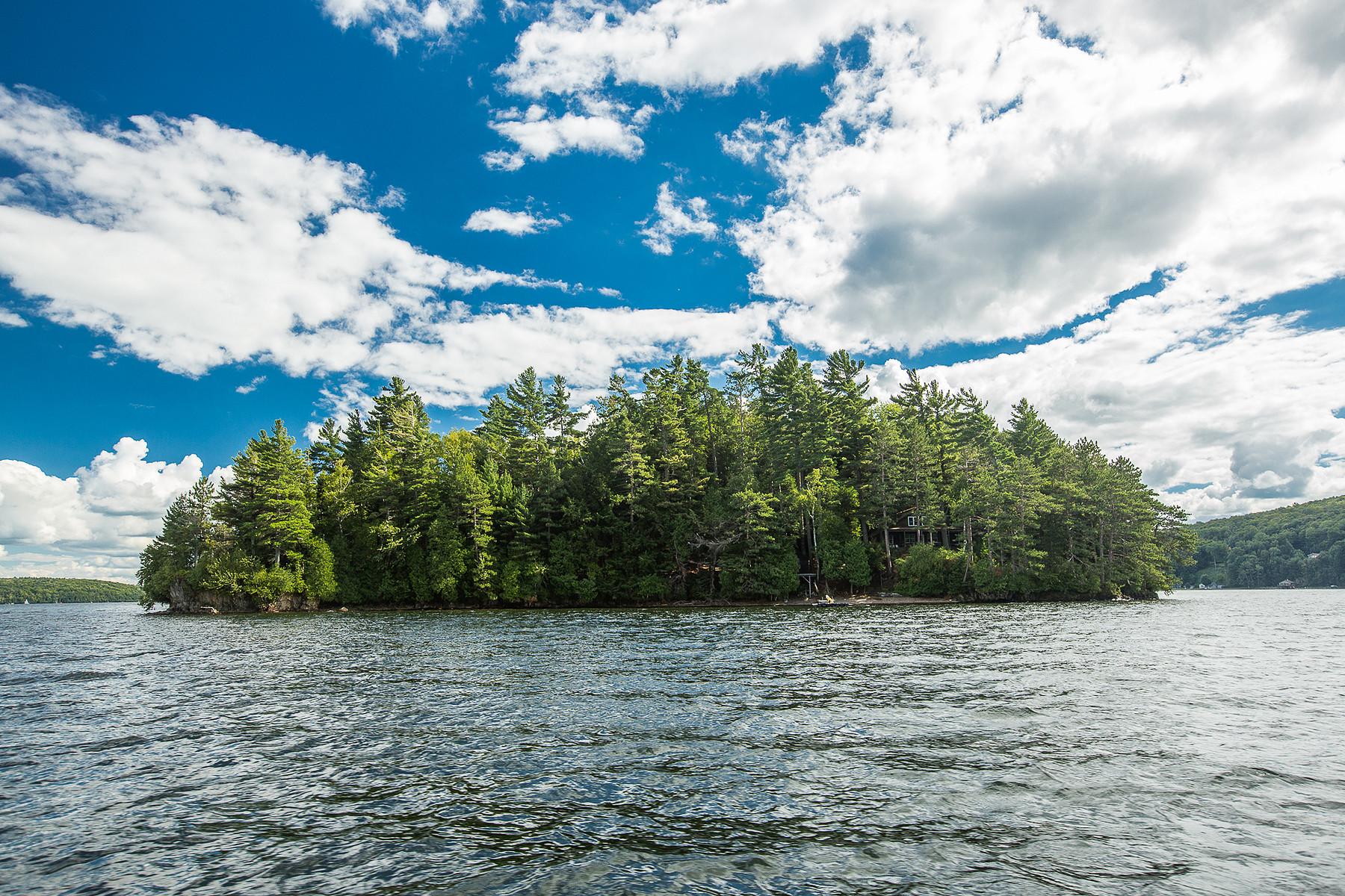 一戸建て のために 売買 アット Island on Lake Memphremagog Île Ronde Potton, ケベック, J0E1X0 カナダ