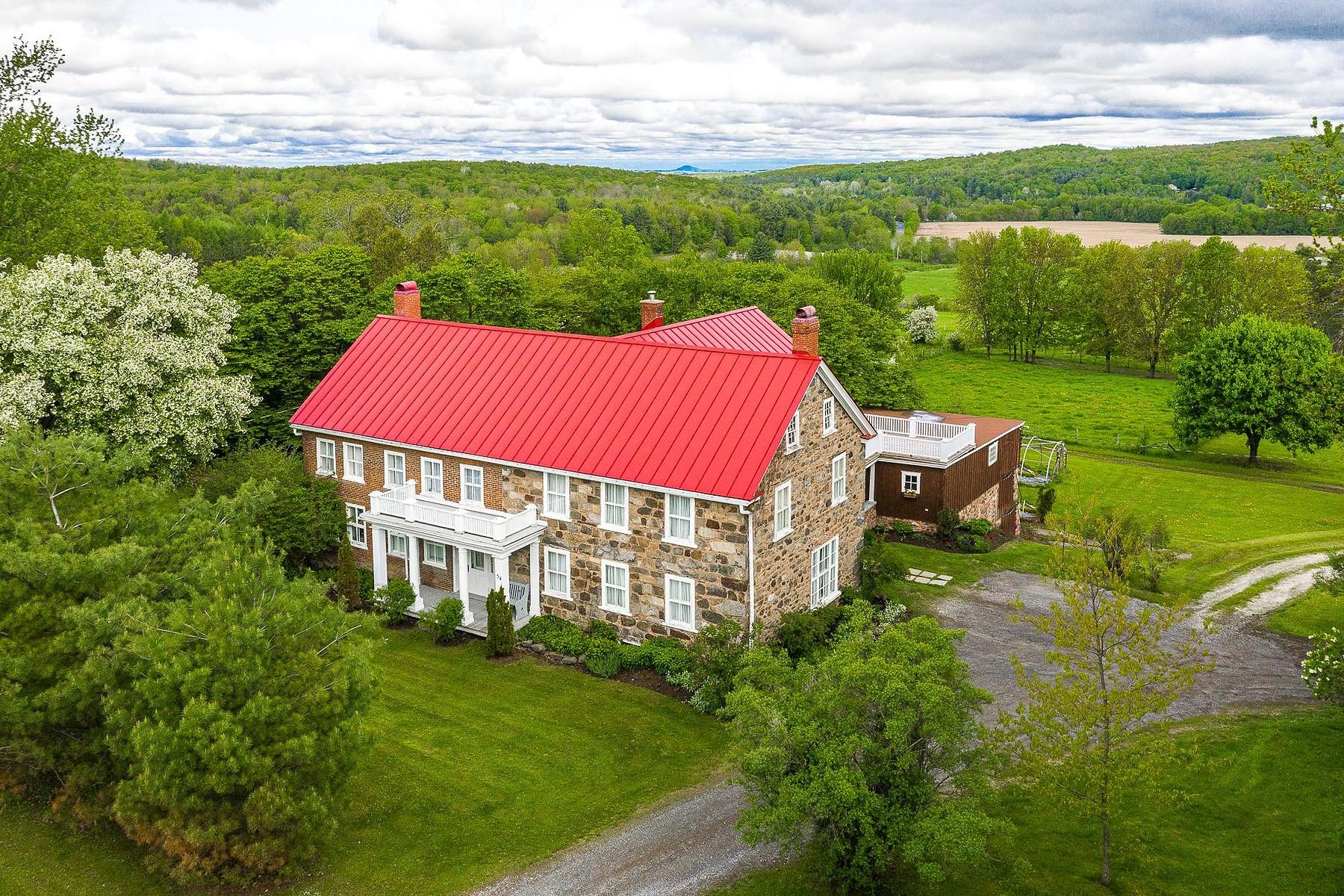 Farm / Ranch / Plantation for Sale at Frelighsburg, Montérégie 54 Ch. de St-Armand Frelighsburg, Quebec J0J1C0 Canada