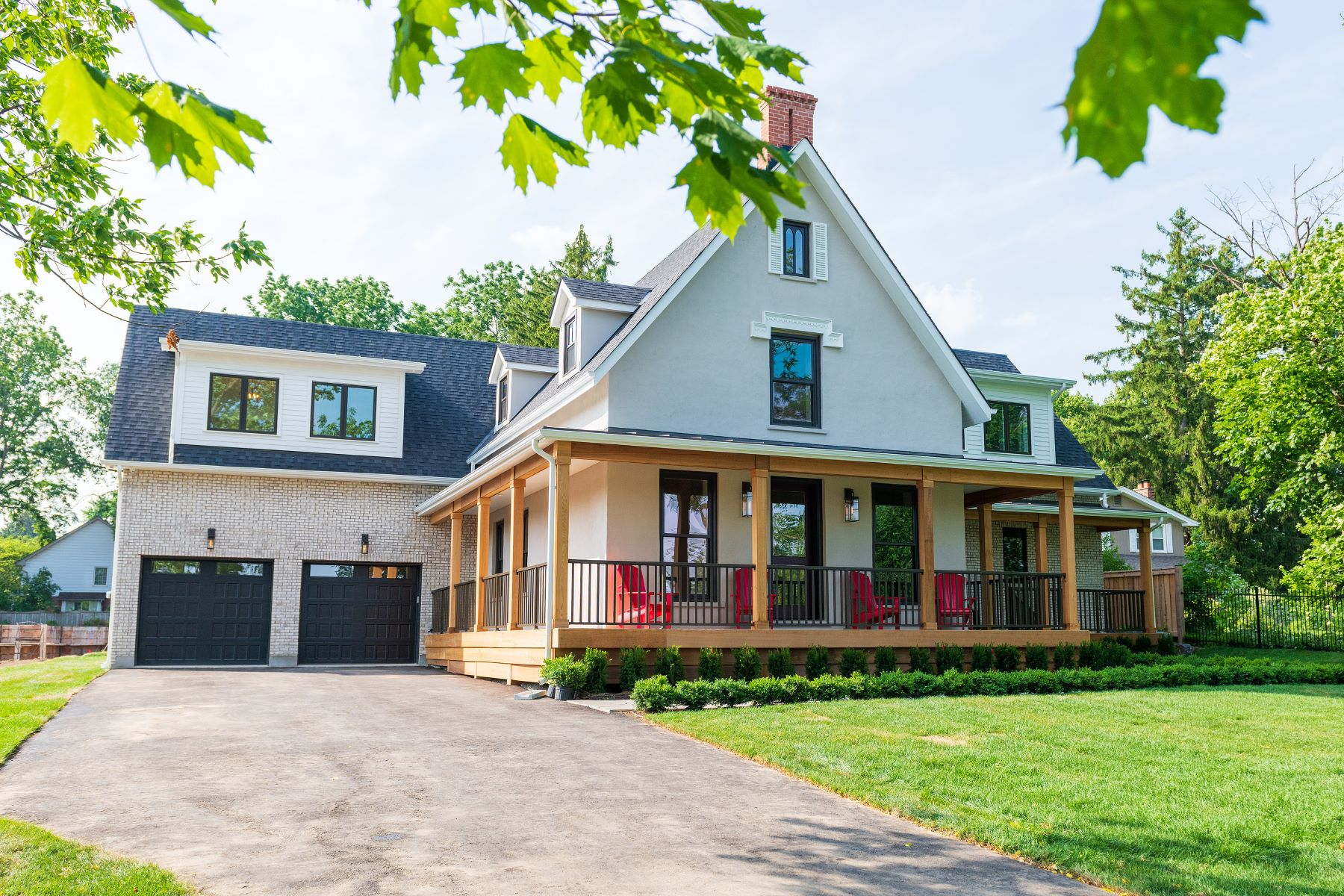 Single Family Homes for Sale at Spectacular Modern Farmhouse 489 Lakeshore Road West Oakville, Ontario L6K 1G5 Canada