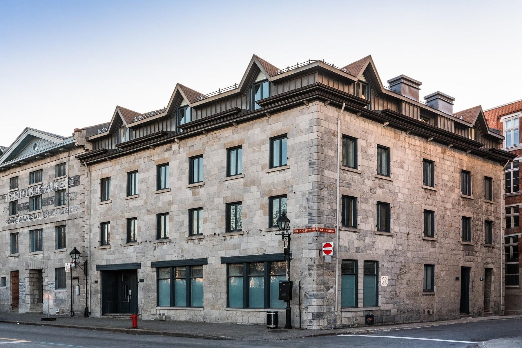 共管式独立产权公寓 为 销售 在 Ville-Marie, Montréal 207 Rue de la Commune O., Apt. RDC, 2,3, Ville-Marie, 魁北克省, H2Y2C9 加拿大