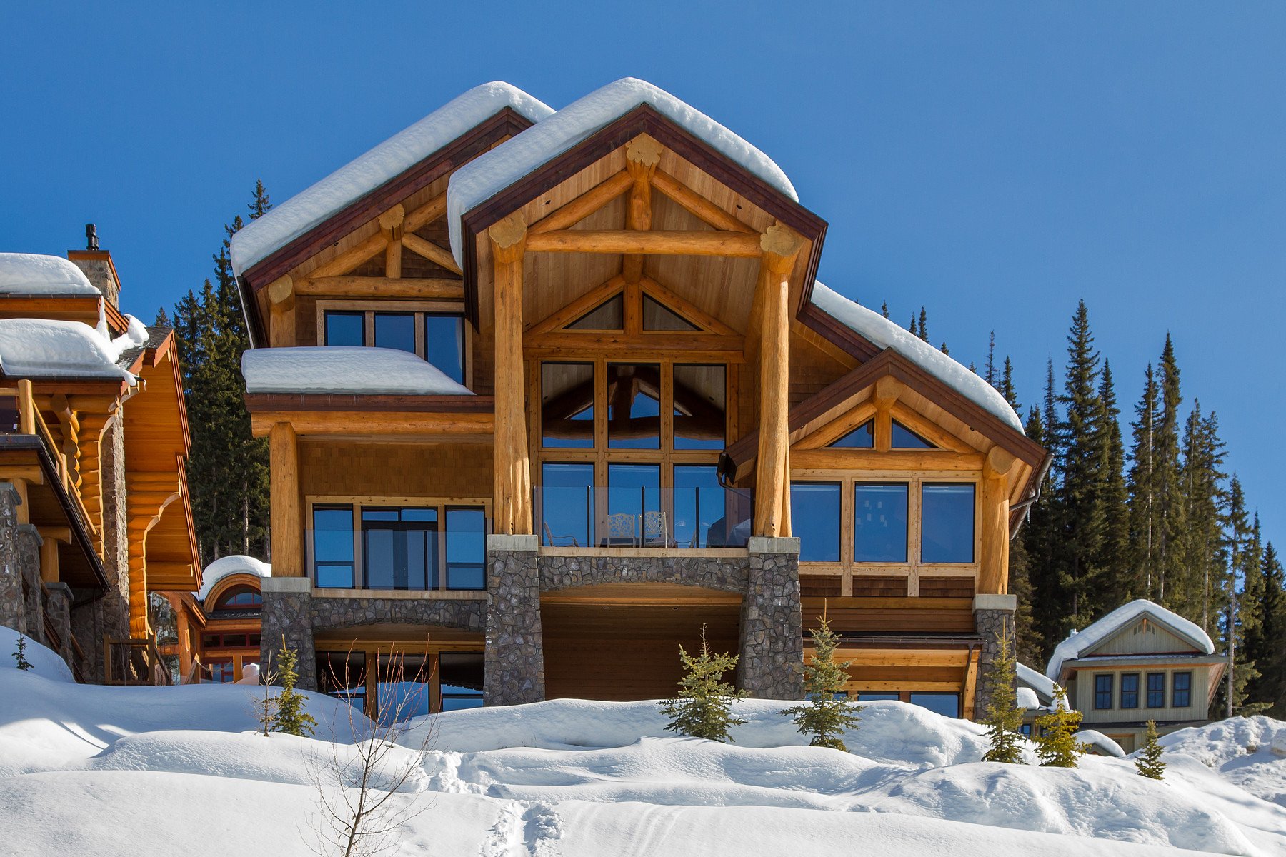 sales property at Ski-In / Ski-Out Log Post & Beam Chalet