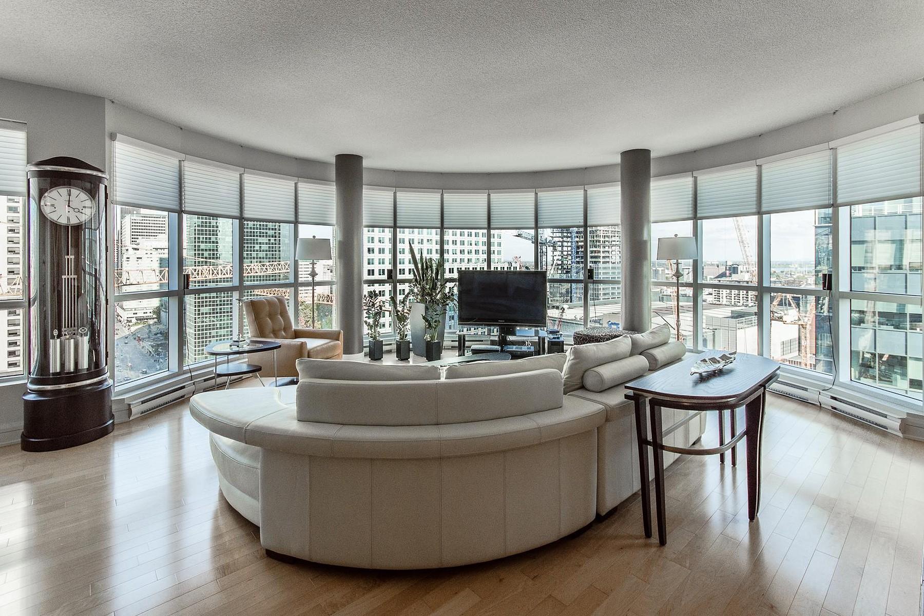 共管式独立产权公寓 为 销售 在 Ville-Marie, Montréal 1100 Rue de la Montagne, Apt. 2003, Ville-Marie, 魁北克省, H3G0A2 加拿大