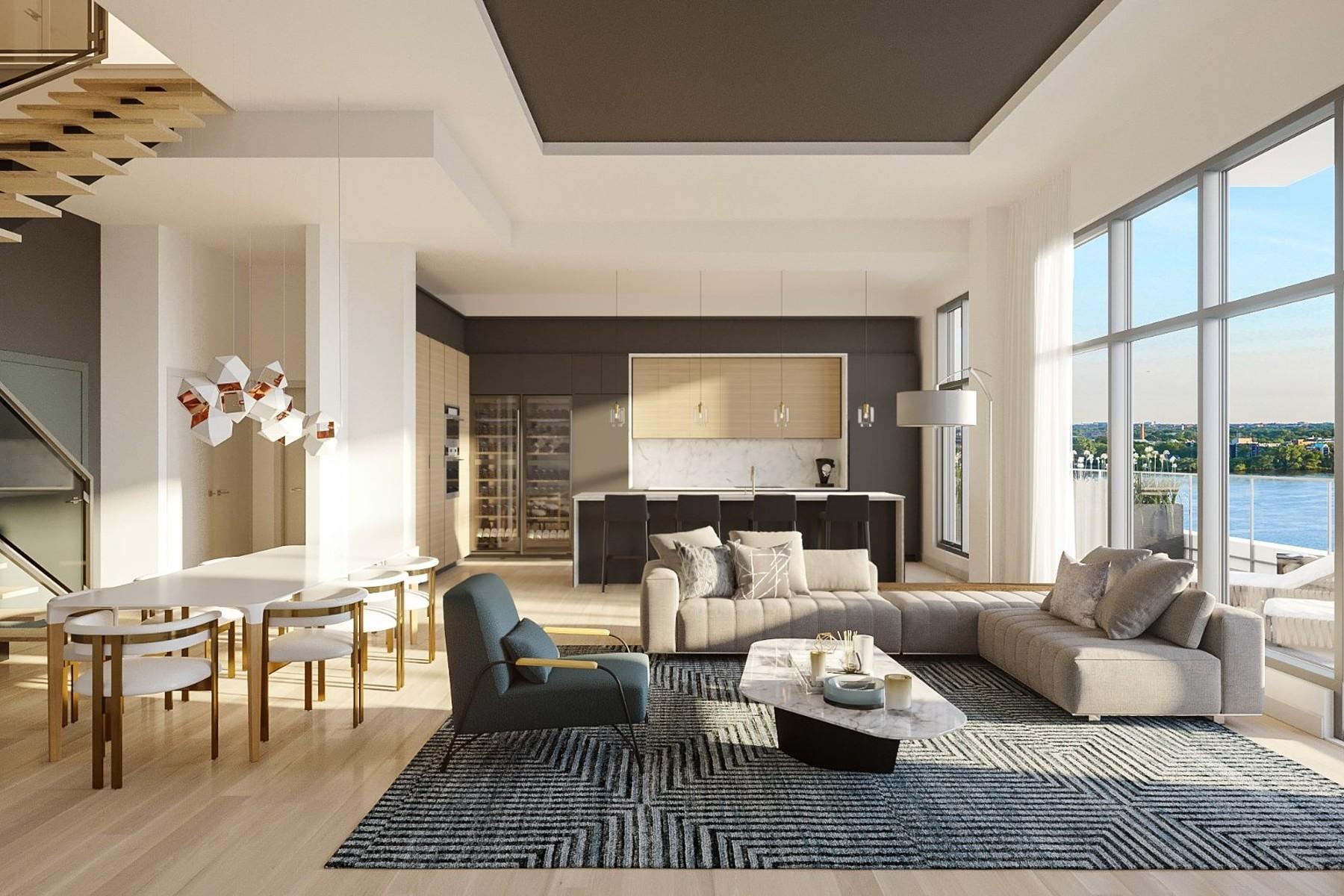 Condominiums for Sale at Pont-Viau, Laval 9 Boul. des Prairies, Apt. PH5 Pont-Viau, Quebec H7B2E6 Canada