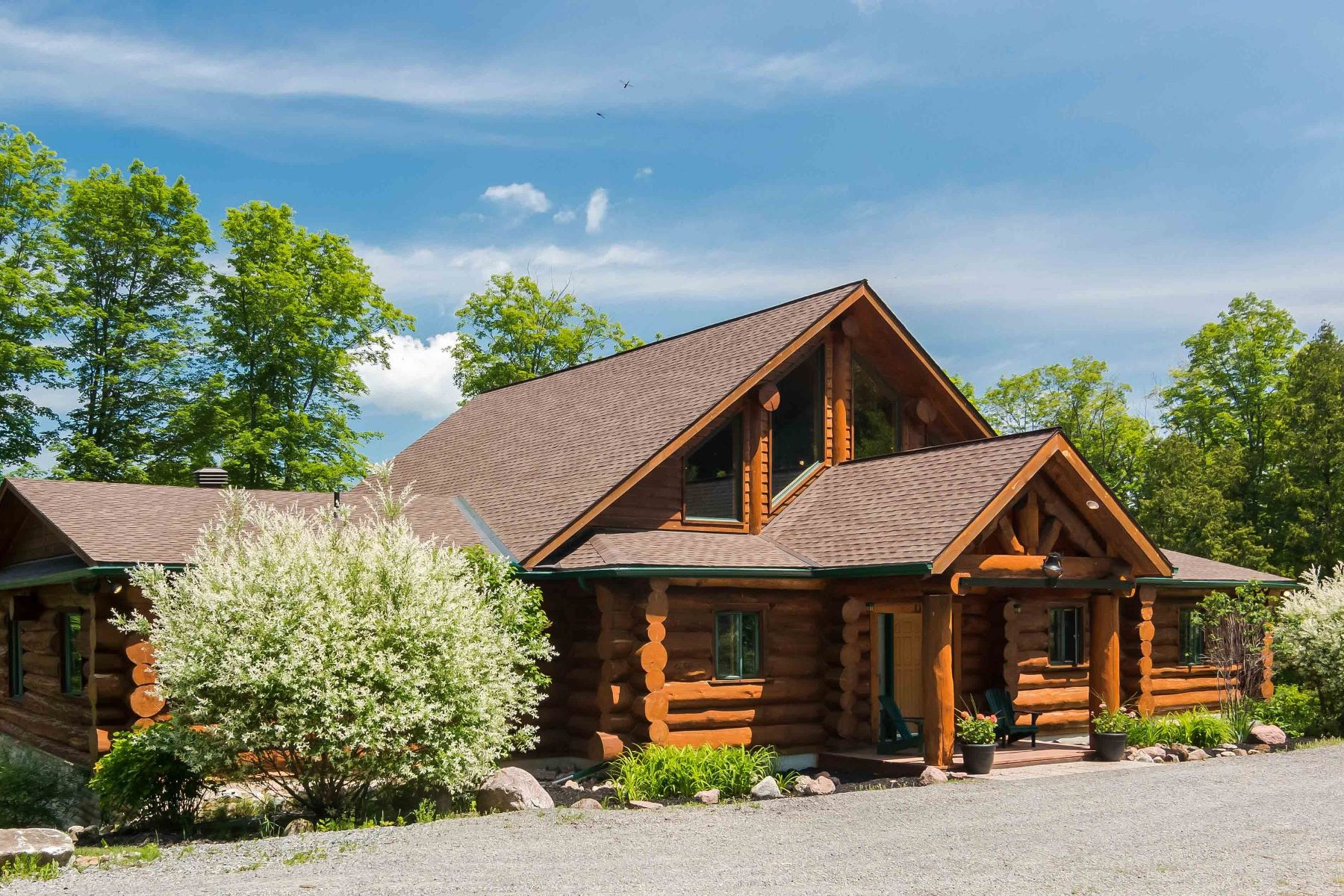 Single Family Home for Sale at Lakefront Log Home 721 A LEE ROAD Westport, Ontario, KOH 1T0 Canada