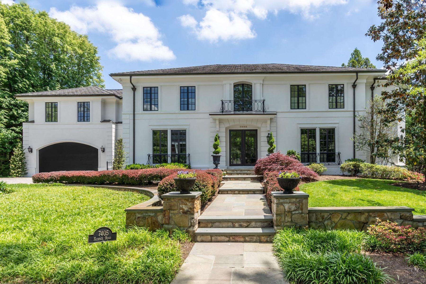 Single Family Homes por un Venta en 7405 Fairfax Rd Bethesda, Maryland 20814 Estados Unidos