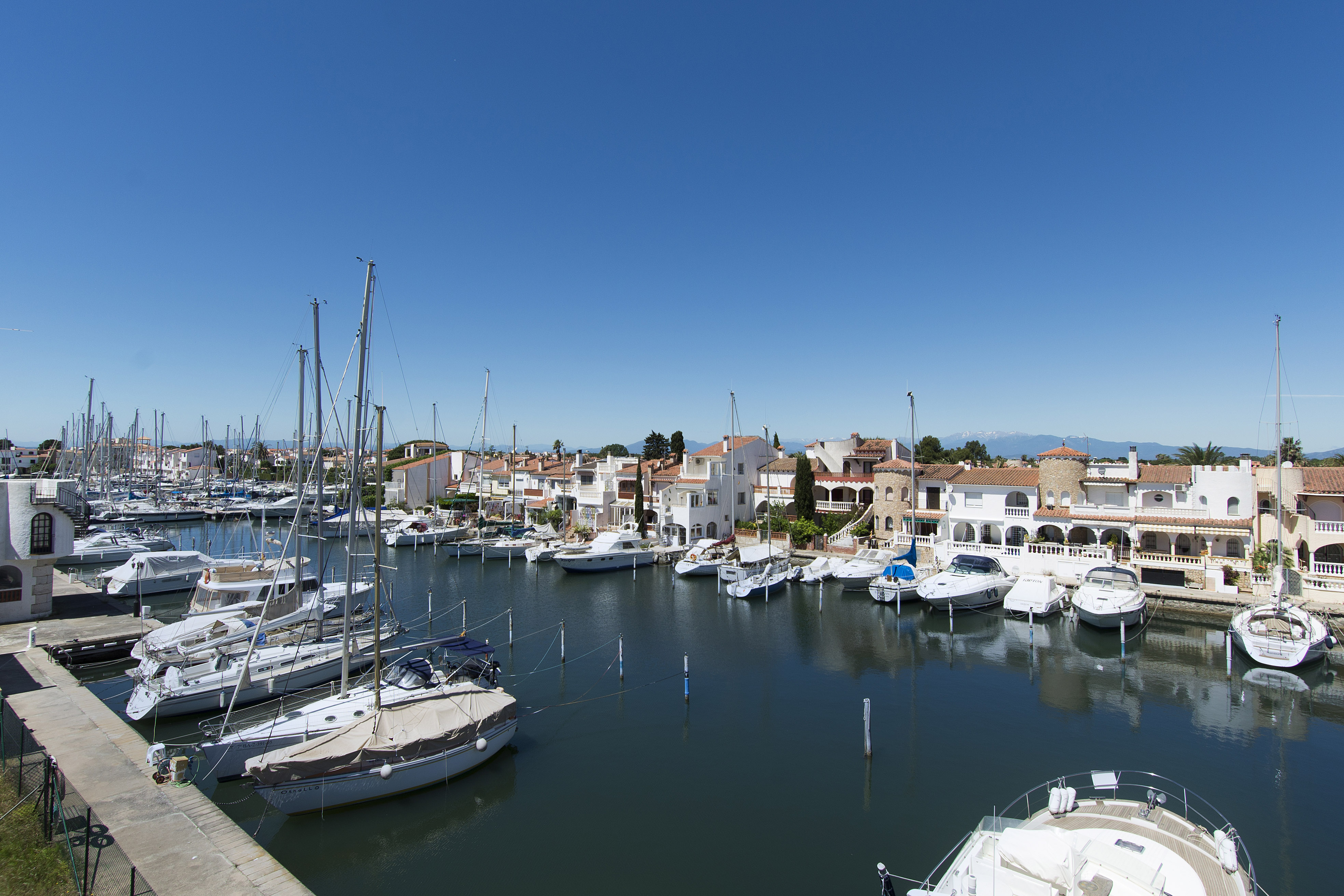 Property For Sale at Unique villa overlooking the harbor in Empuriabrava with two berths