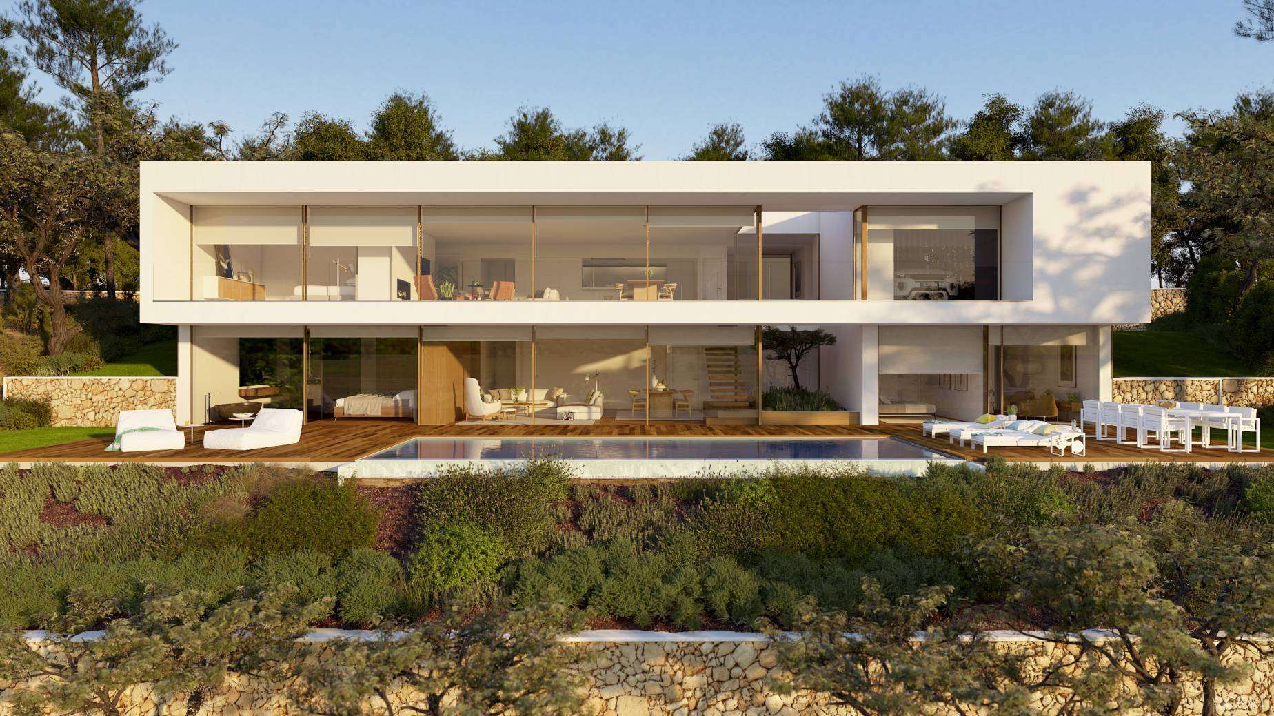 Single Family Home for Sale at Proposed modern villa with spectacular sea views in Cala Sant Francesc Other Spain, Other Areas In Spain, 17300 Spain