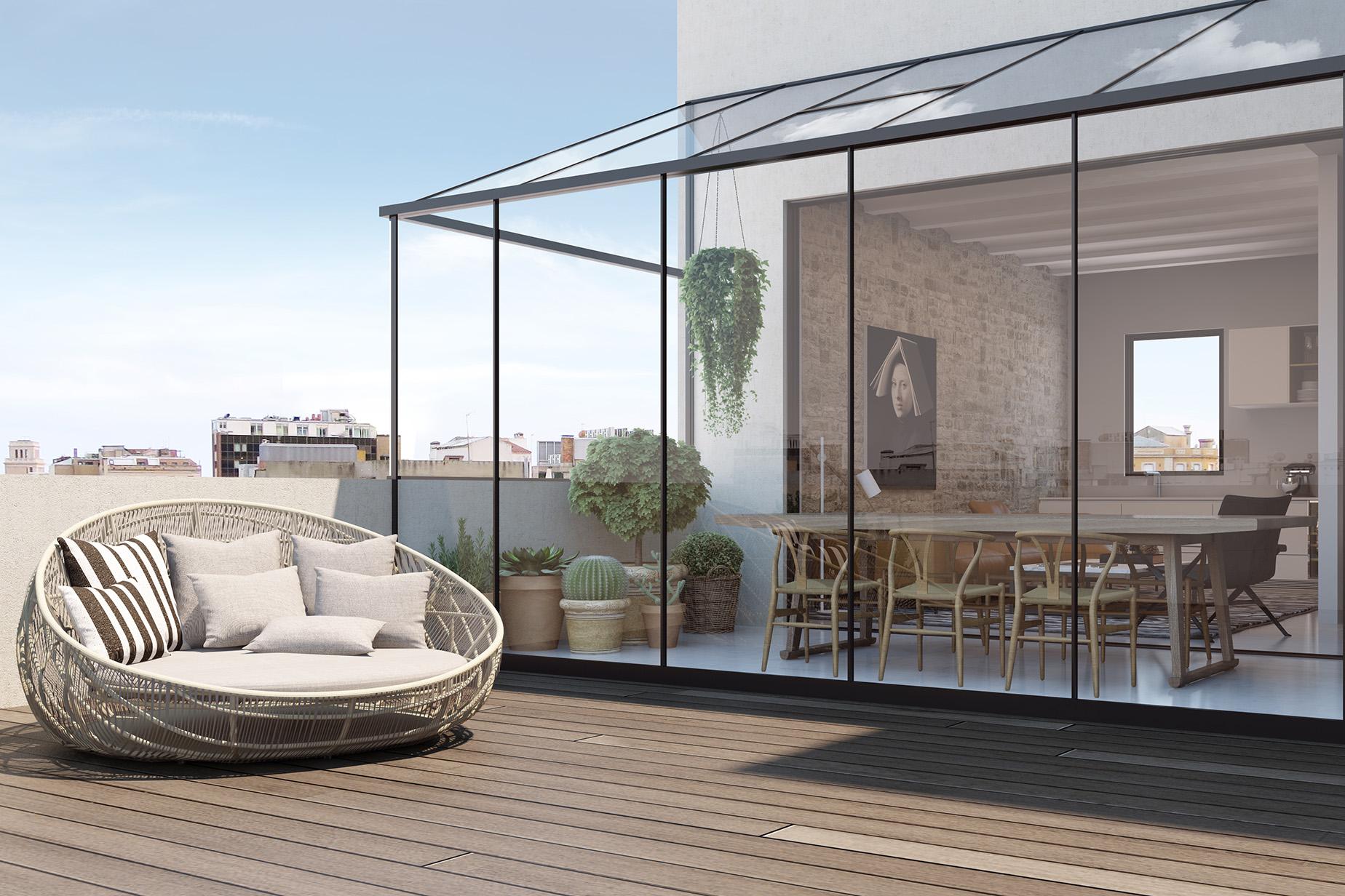 Apartamento para Venda às Elegant and Avant-Garde Penthouse in Poble Sec Barcelona City, Barcelona, 08007 Espanha