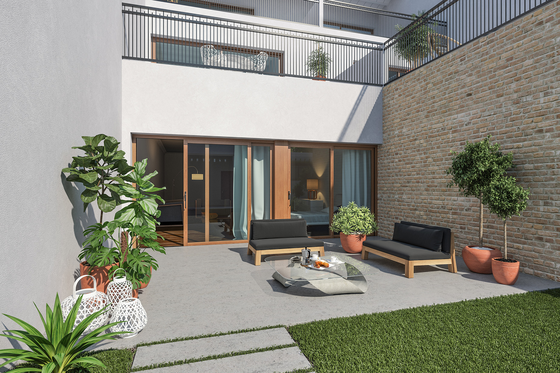 Apartamento para Venda às The Ground Floor Apartment in a New Building with a Garden Barcelona City, Barcelona, 08012 Espanha