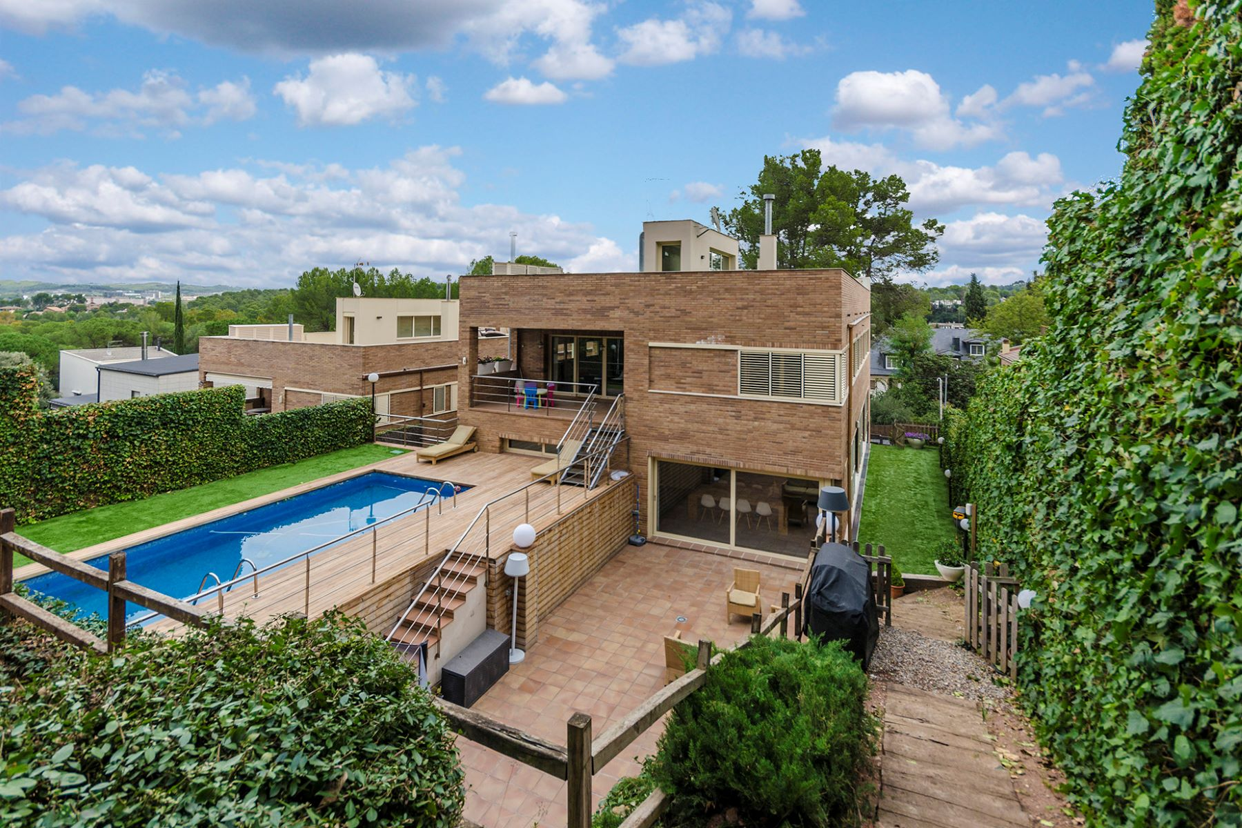 Single Family Home for Sale at Modern sunny villa with swimming pool in Valldoreix Sant Cugat Del Valles, Barcelona, 08172 Spain