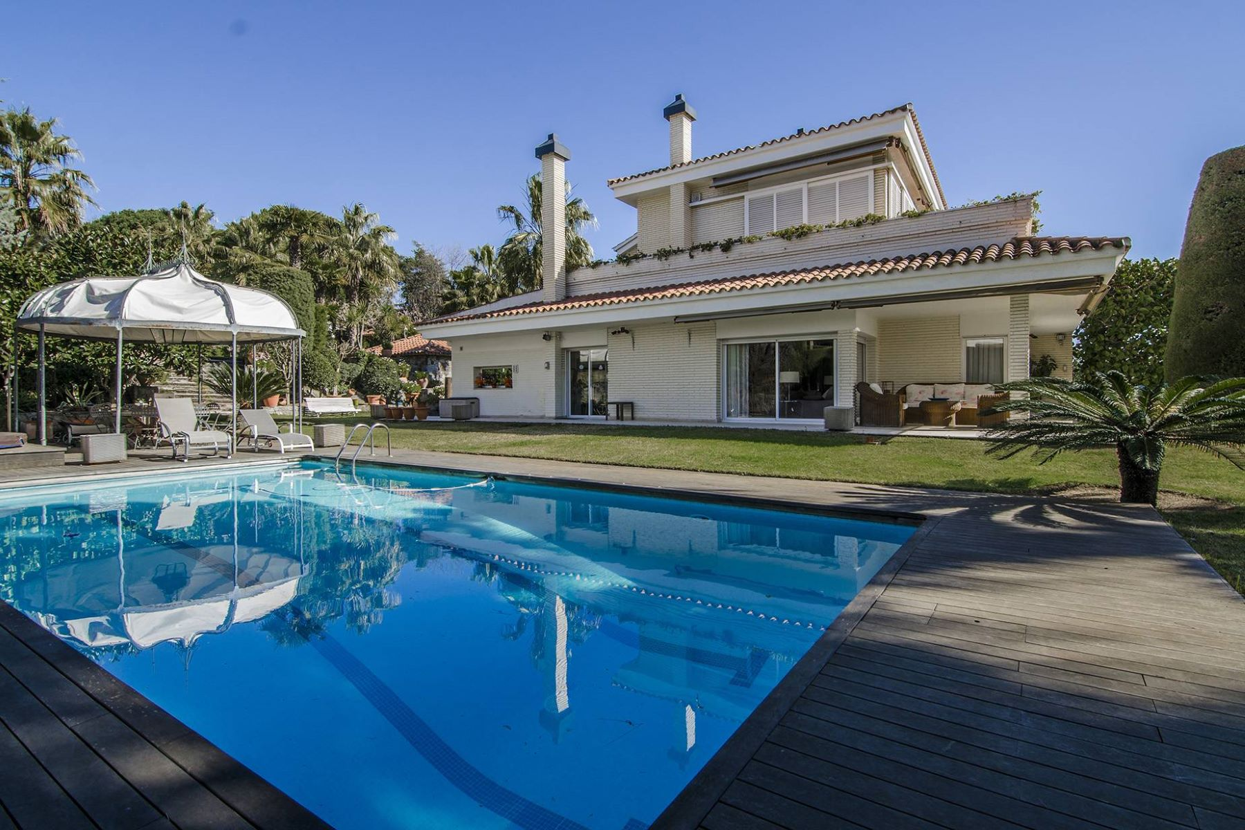 Single Family Home for Sale at Garden Villa with Sea Views in Can Teixidó Alella, Barcelona, 08328 Spain