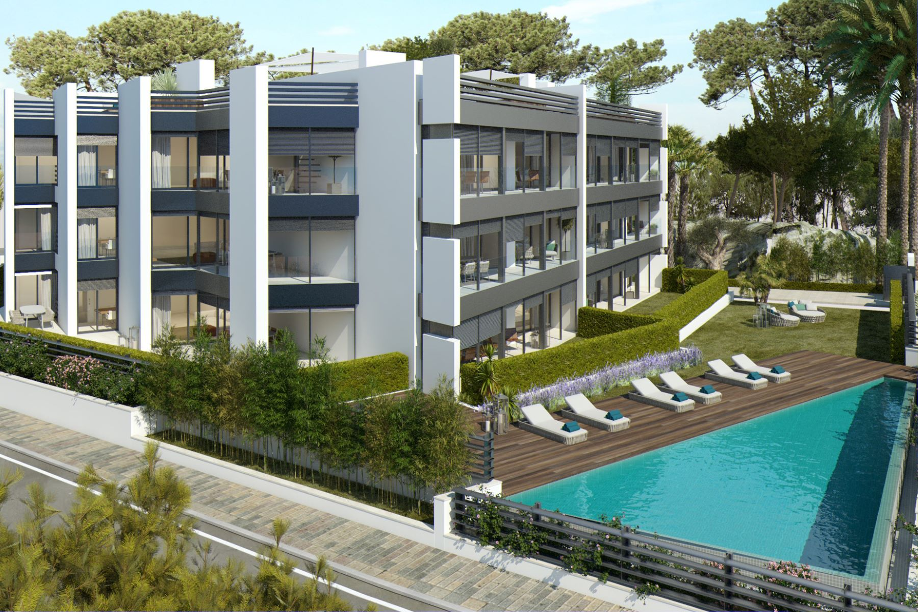 Appartement pour l Vente à Ground floor apartment with private garden and sea views in exclusive new de ... Playa De Aro, Costa Brava, 17250 Espagne