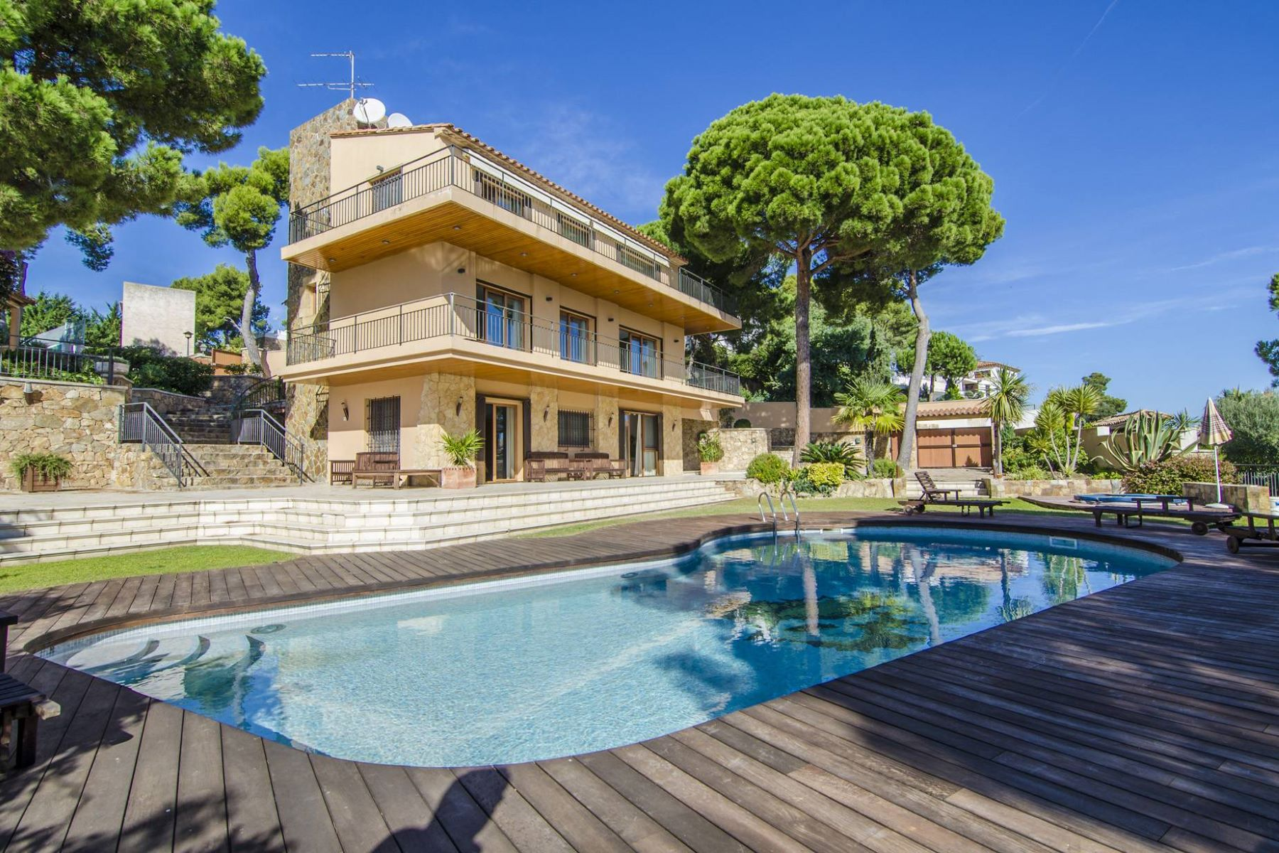 Single Family Home for Sale at Beautiful villa with magnificent sea views in prestigious urbanization Torrevalentina, Barcelona 17252 Spain