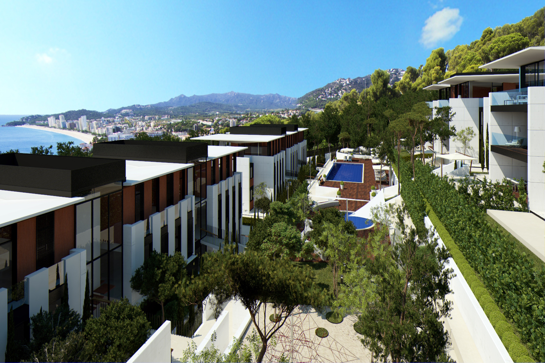 Apartment for Sale at Ground floor with private garden and sea view in a new exclusive development Playa De Aro, Costa Brava, 17250 Spain