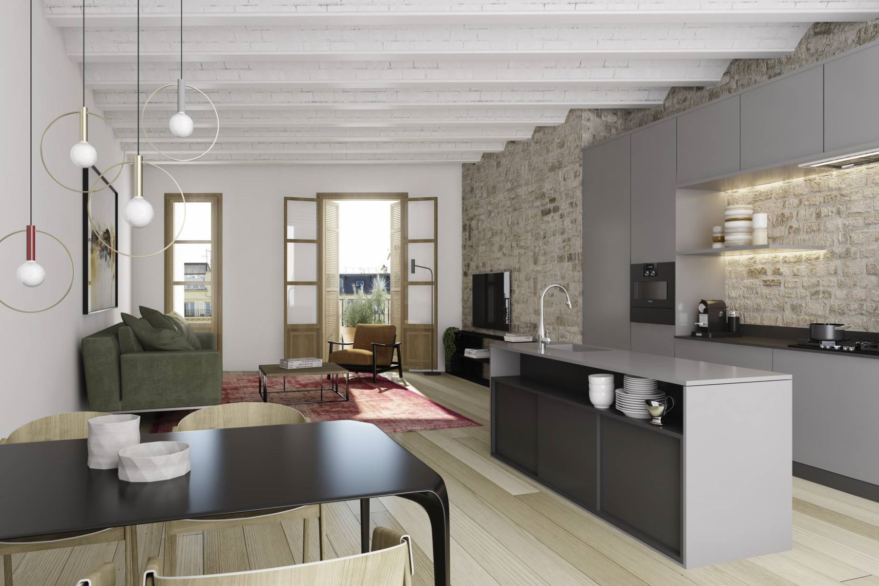 Apartment for Sale at Apartment in Restored Unique Building in the Gothic Quarter Barcelona City, Barcelona, 08002 Spain