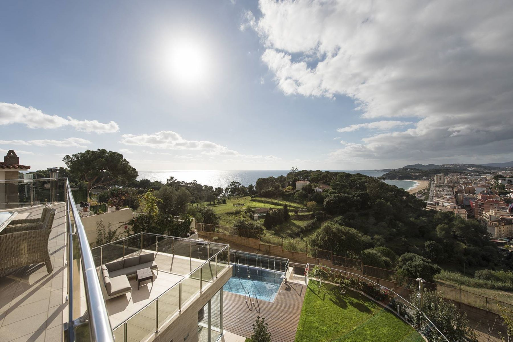 Single Family Home for Sale at New luxury villa with sea views, 400 m from a small bay Lloret De Mar, Costa Brava, 17310 Spain