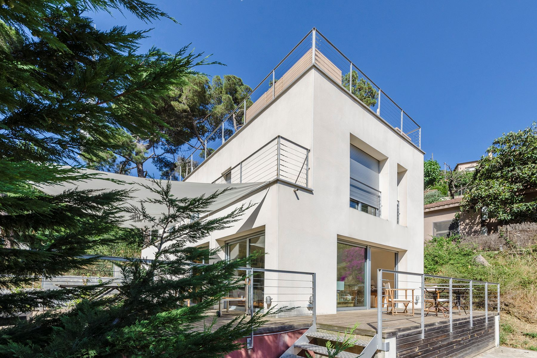 Single Family Home for Sale at Splendid modern house with spectacular views Barcelona City, Barcelona, 08034 Spain