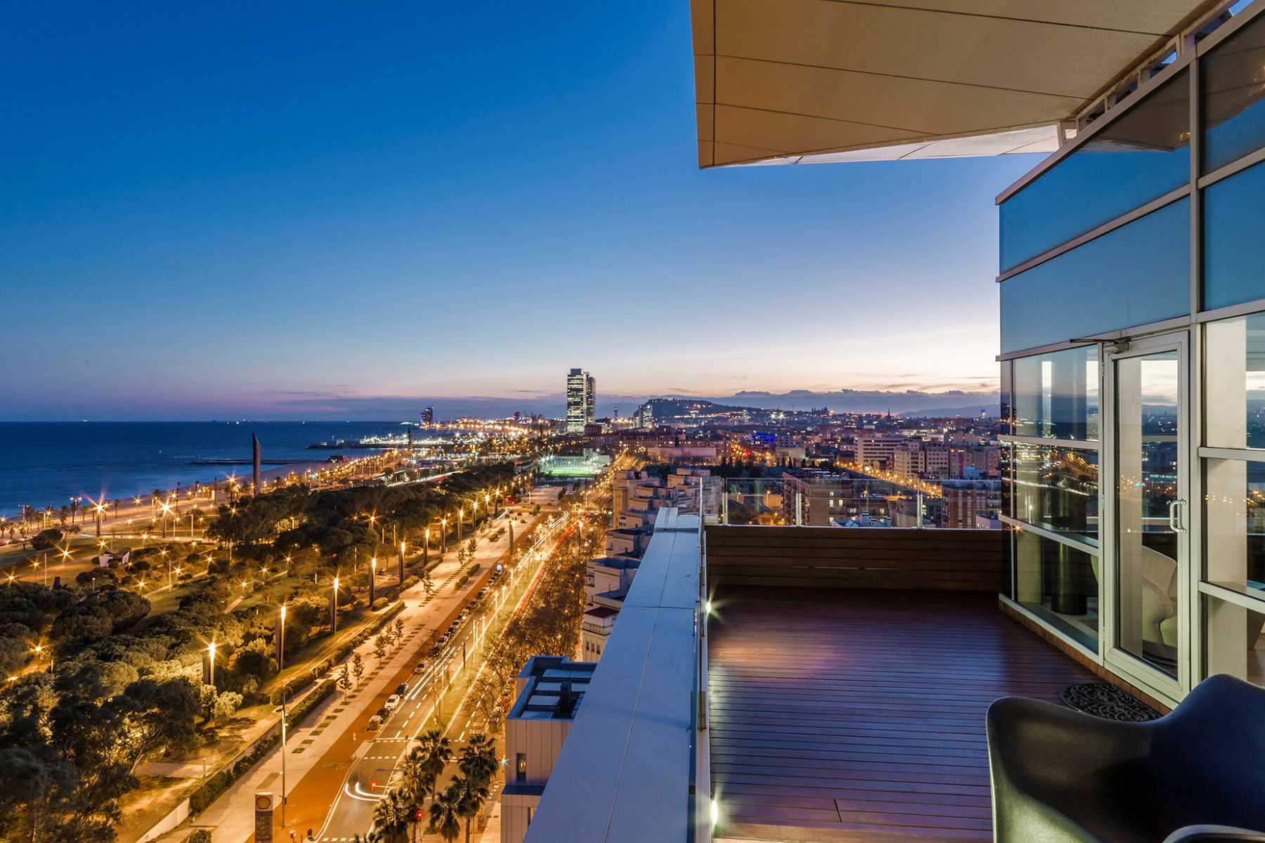Apartment for Sale at Singular penthouse with panoramic sea views Barcelona City, Barcelona, 08019 Spain
