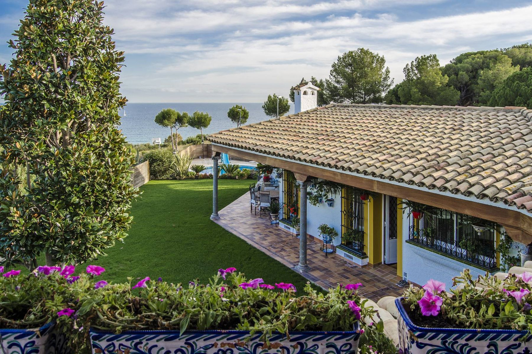 Single Family Home for Sale at A House with Andalusian Flavor and Sea Views in Alella Alella, Barcelona, 08328 Spain