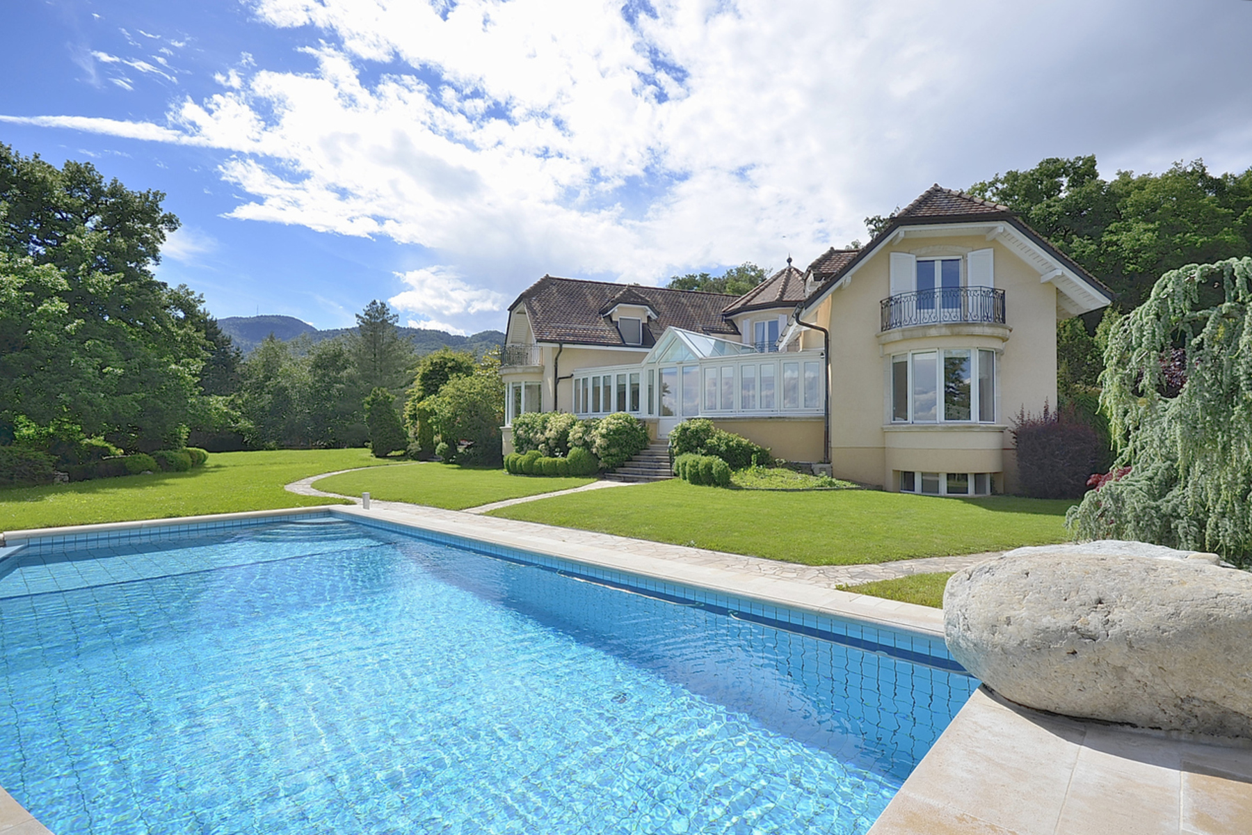 sales property at Master villa with views of the lake and the Alps