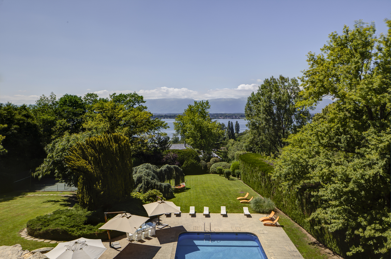 Single Family Home for Sale at Superb property with view over the lake Vésenaz Other Switzerland, Other Areas In Switzerland 1222 Switzerland
