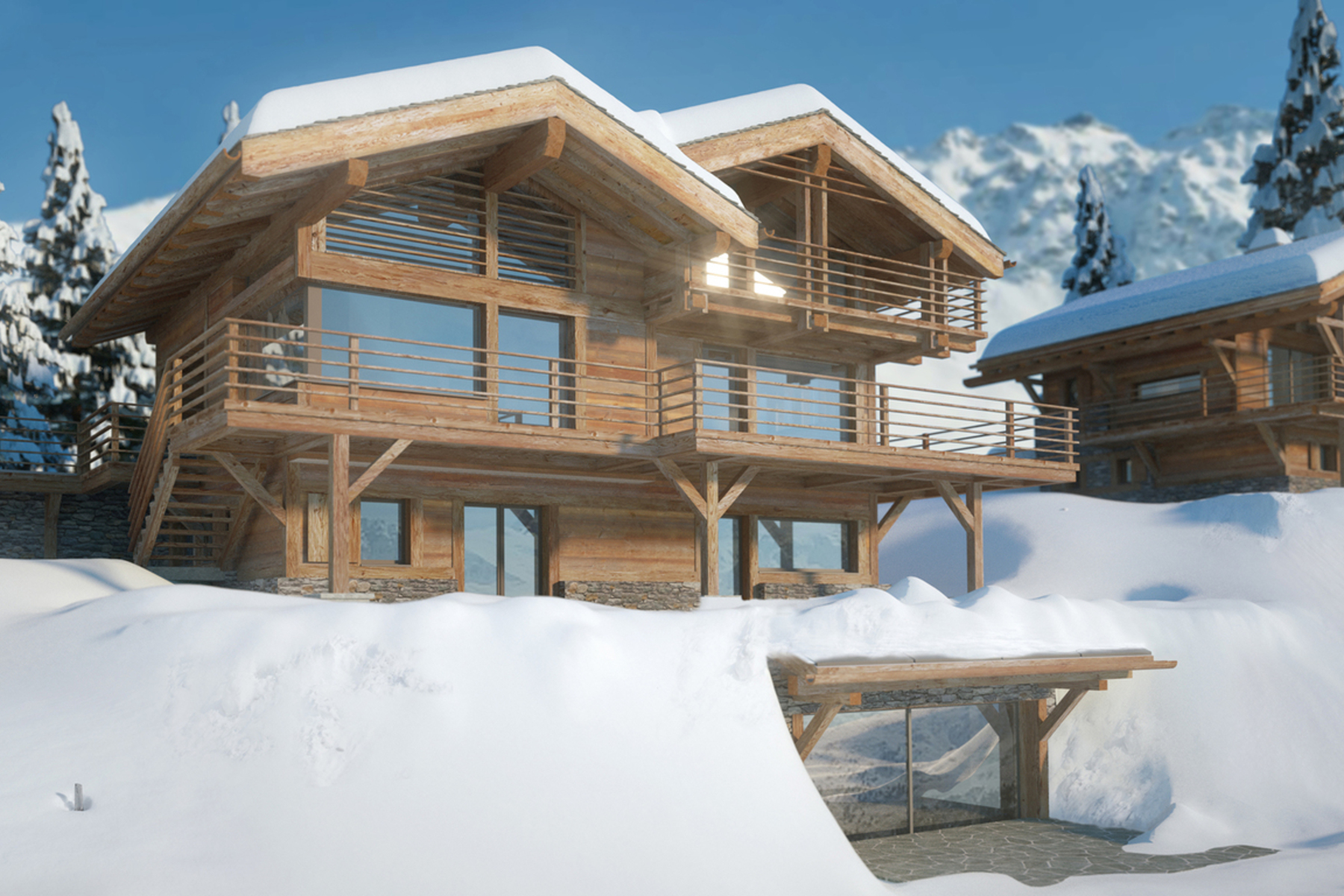 sales property at Luxury chalet Nuptse with spa & pool - off plan - Sonalon