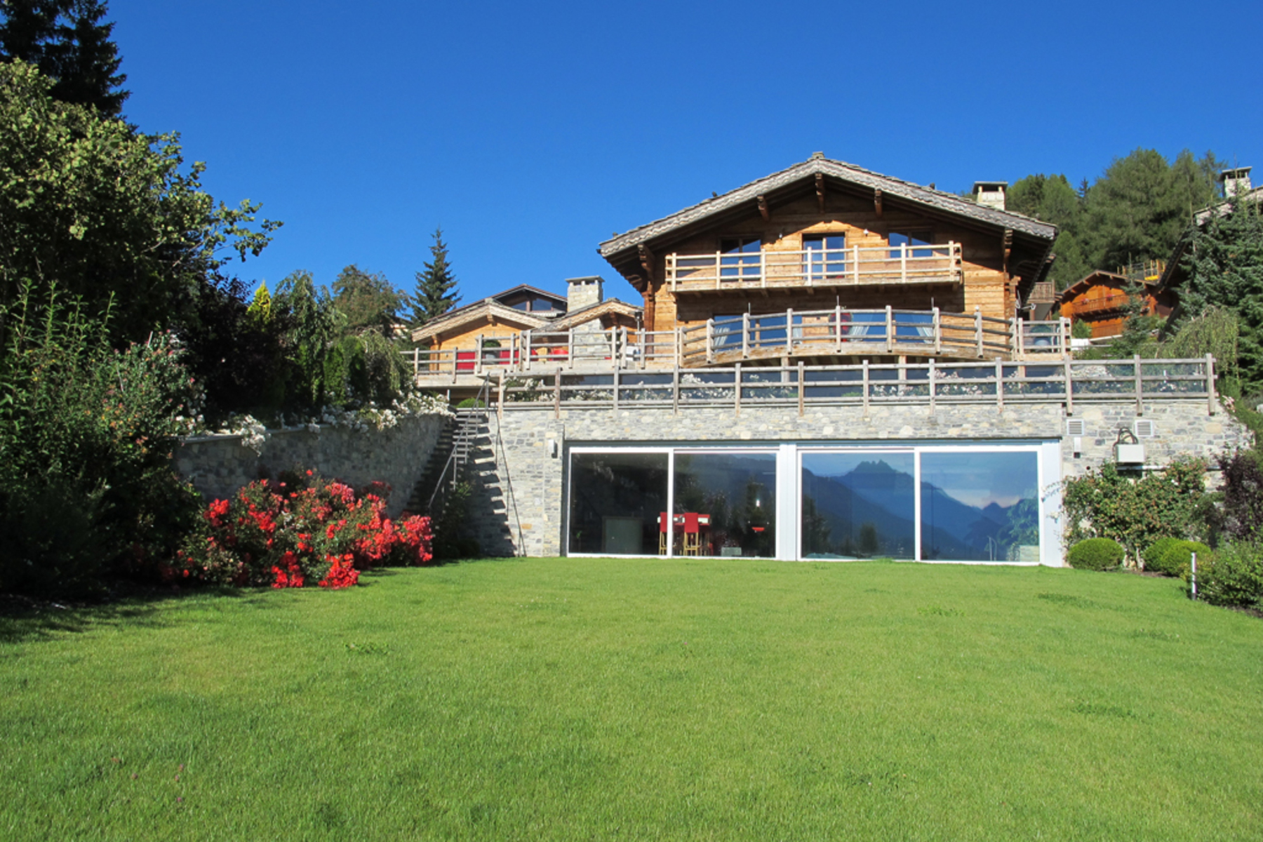 sales property at A stylish home in a shrine of greenery in one of Crans' most sought-after areas