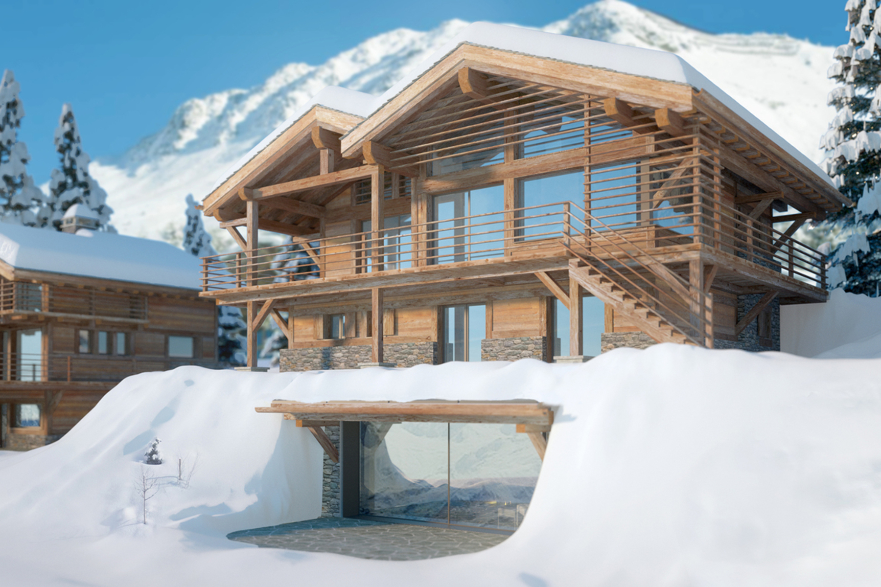 sales property at Luxury chalet Changtse with spa & pool- off plan - Sonalon