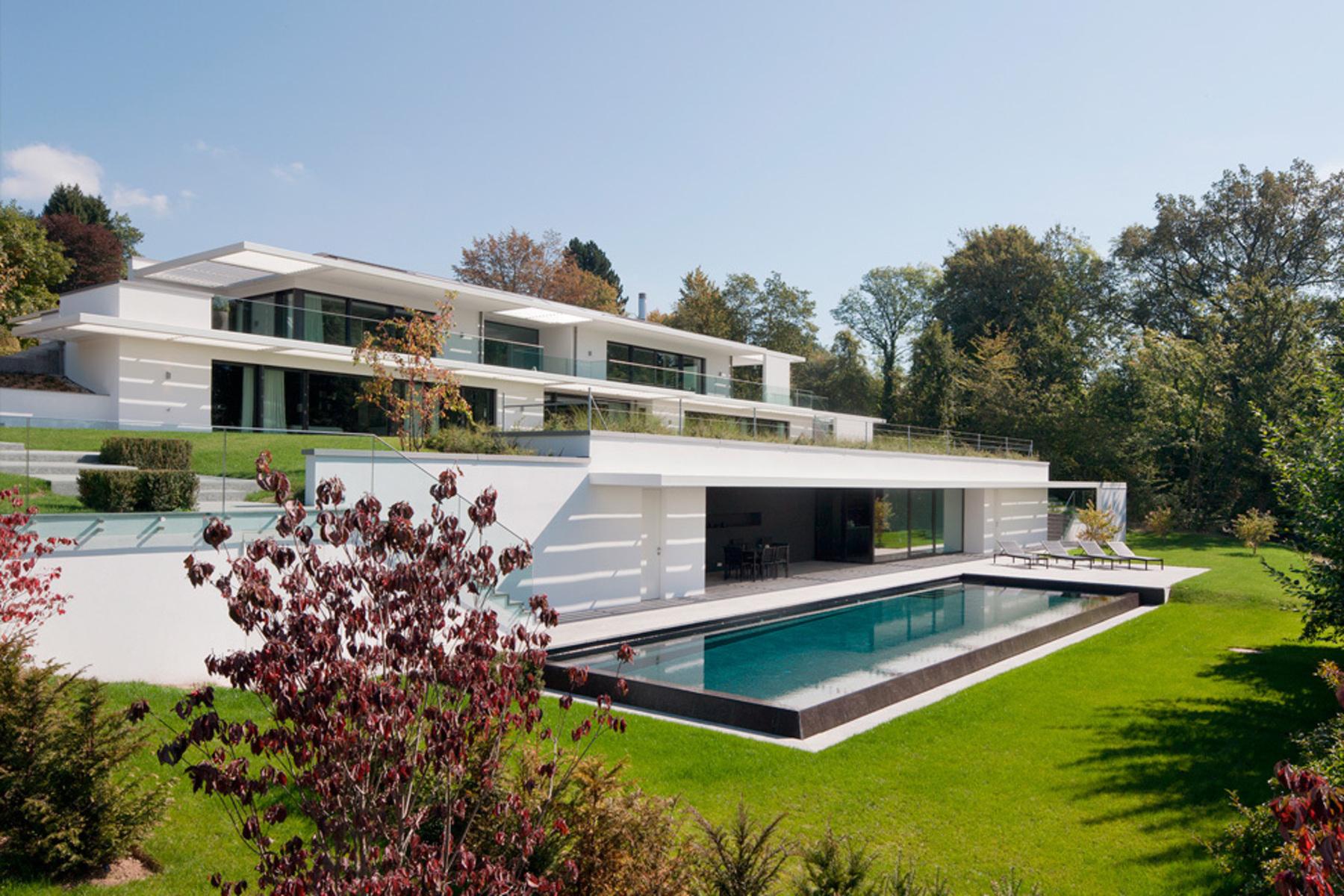 Single Family Home for Sale at Spectacular 10 room architect-built house Epalinges Epalinges, Vaud, 1066 Switzerland