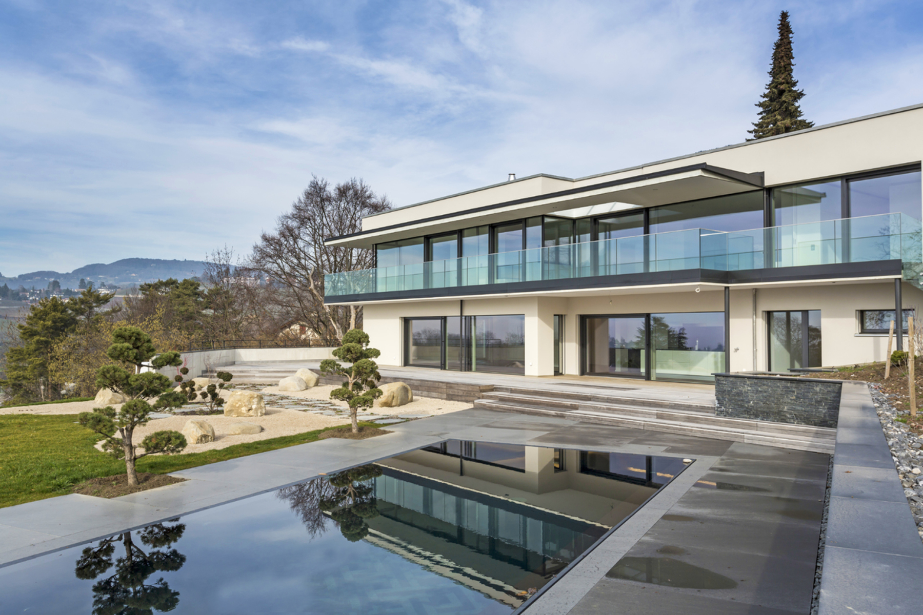 sales property at Luxury contemporary new-build Sought-after area with lake view