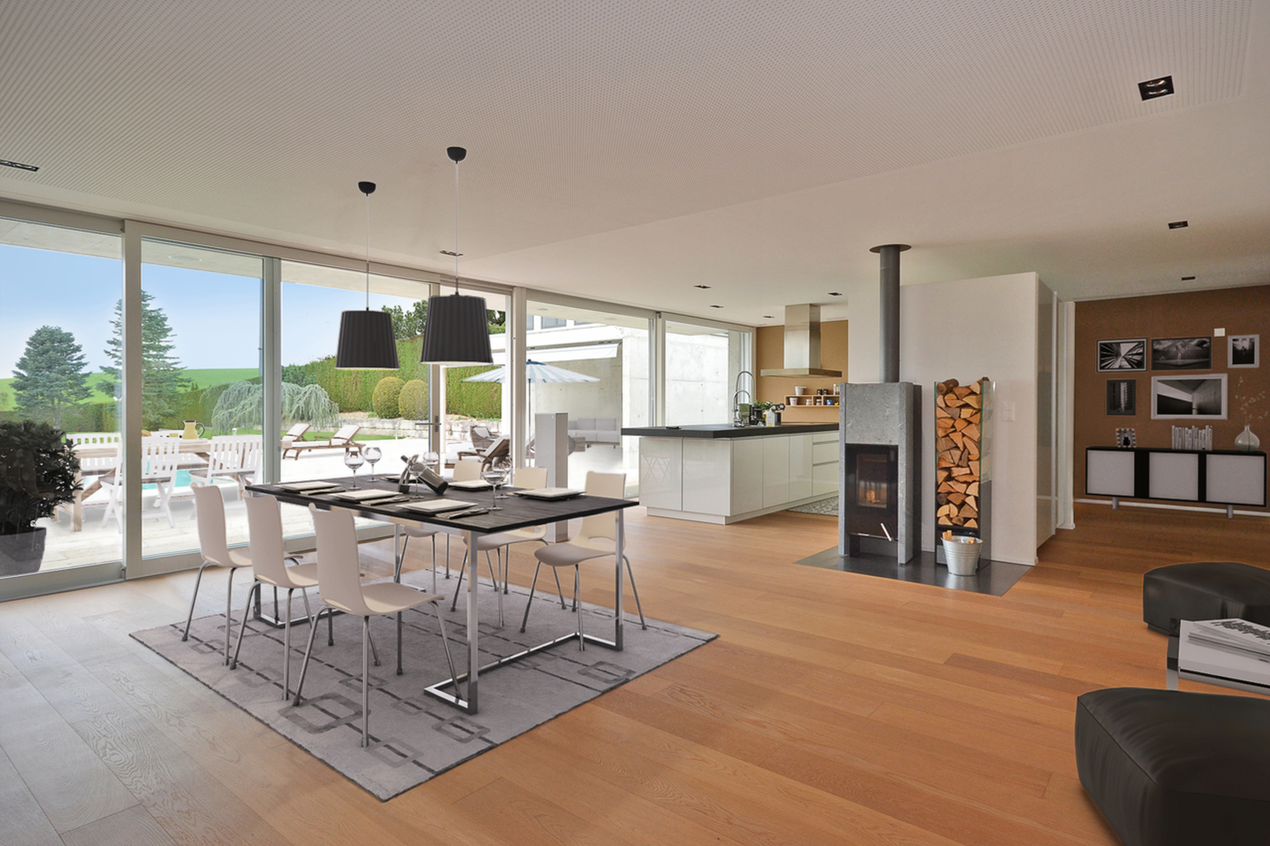 Single Family Home for Sale at Magnificent contemporary property on a beautiful plot Bulle Bulle, Fribourg, 1630 Switzerland