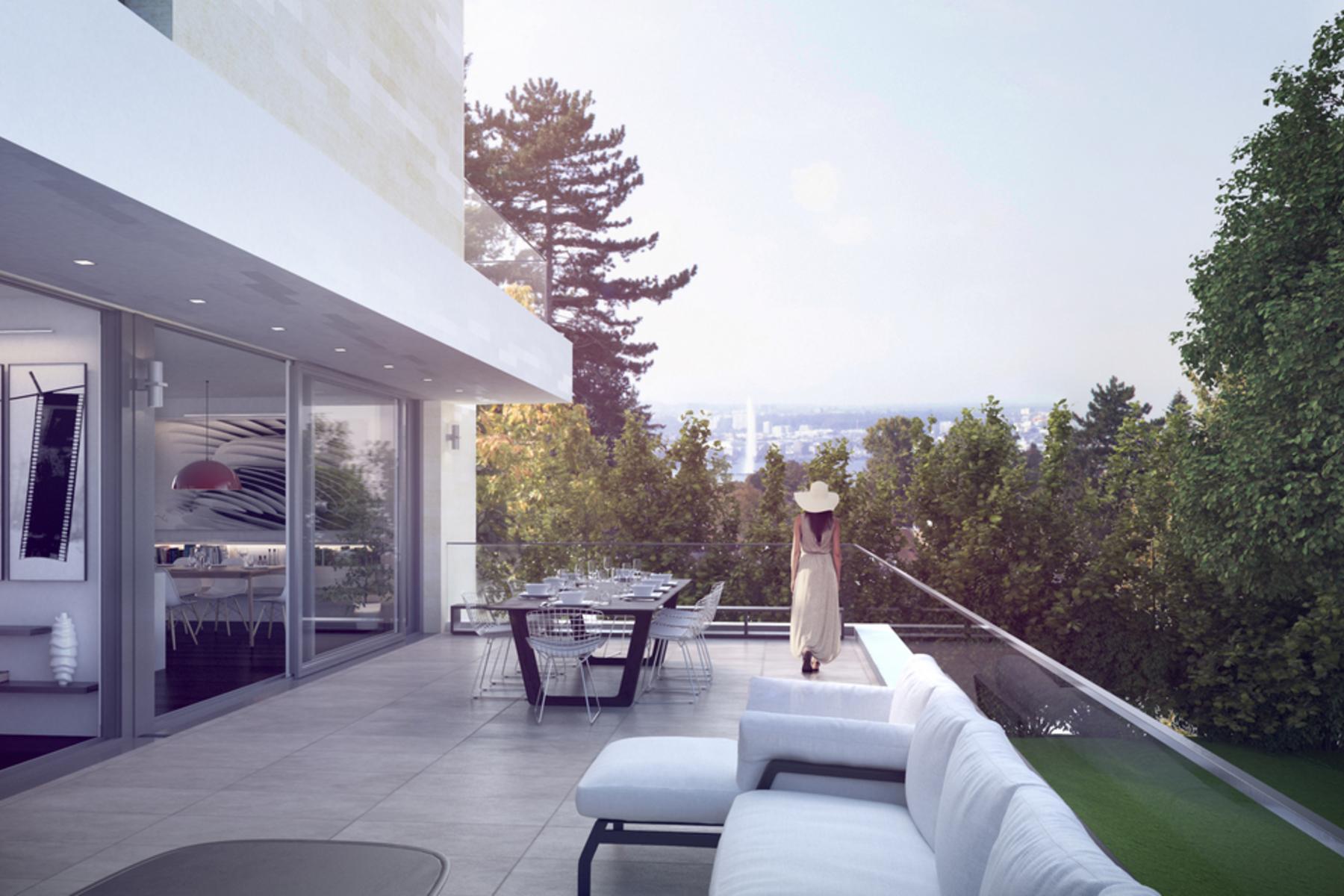 Apartments por un Venta en Building 1 Duplex lots 5.04 & 6.01 - 8 rooms - 2nd and 3rd floors Cologny Cologny, Ginebra 1223 Suiza