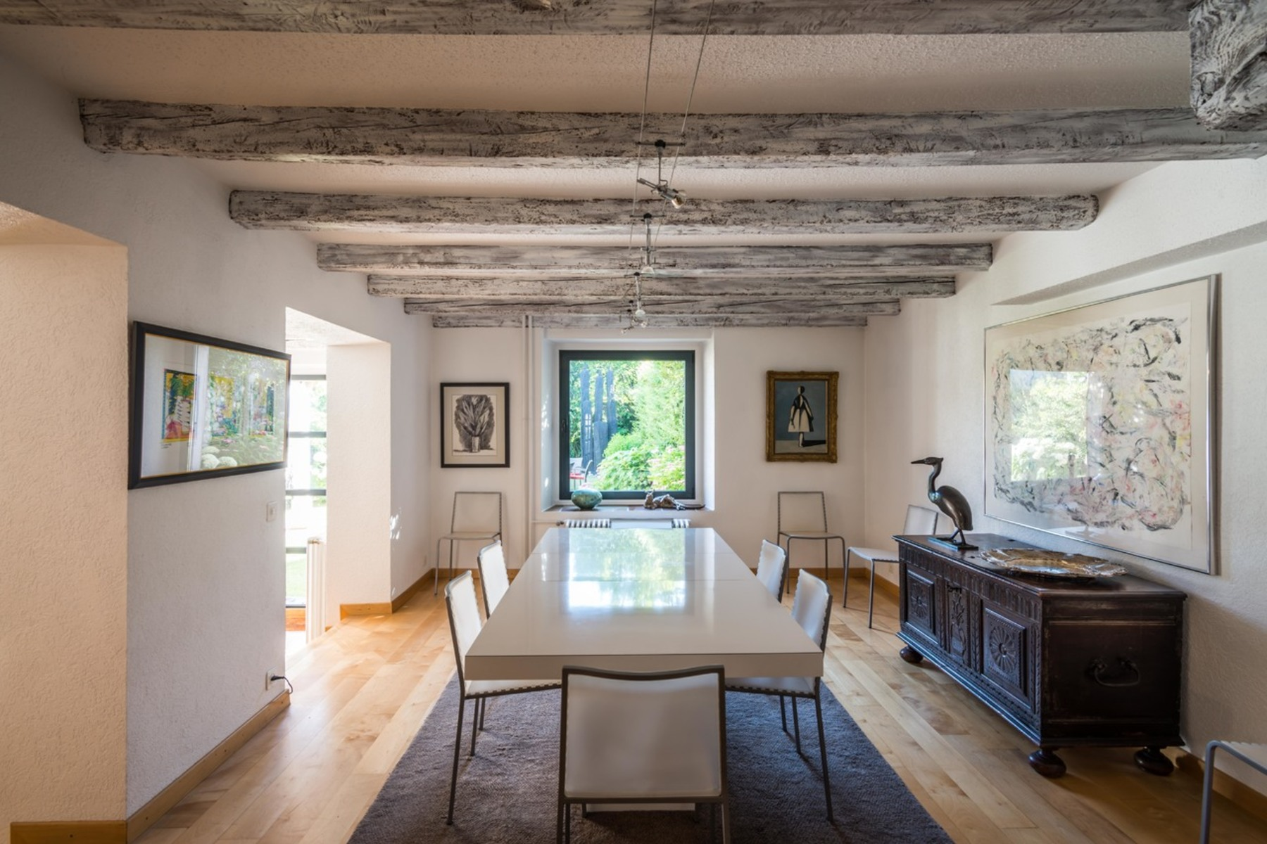 Single Family Home for Sale at Historic barn marrying modern comfort with rustic charm Anières Anieres, Geneva 1247 Switzerland