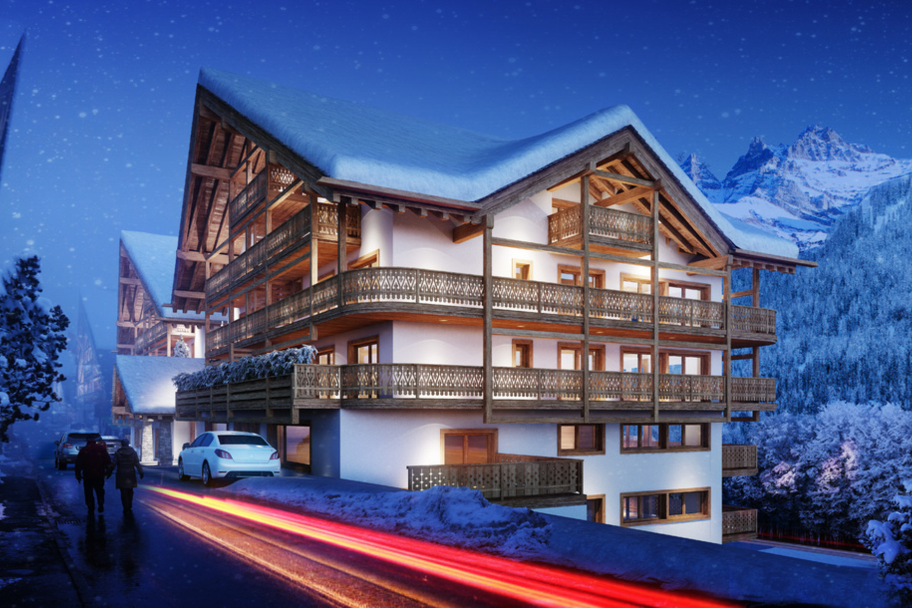 複式單位 為 出售 在 Résidence Le Montagnier - New-build apartment with amazing views Champéry Champery, 瓦萊州, 1874 瑞士