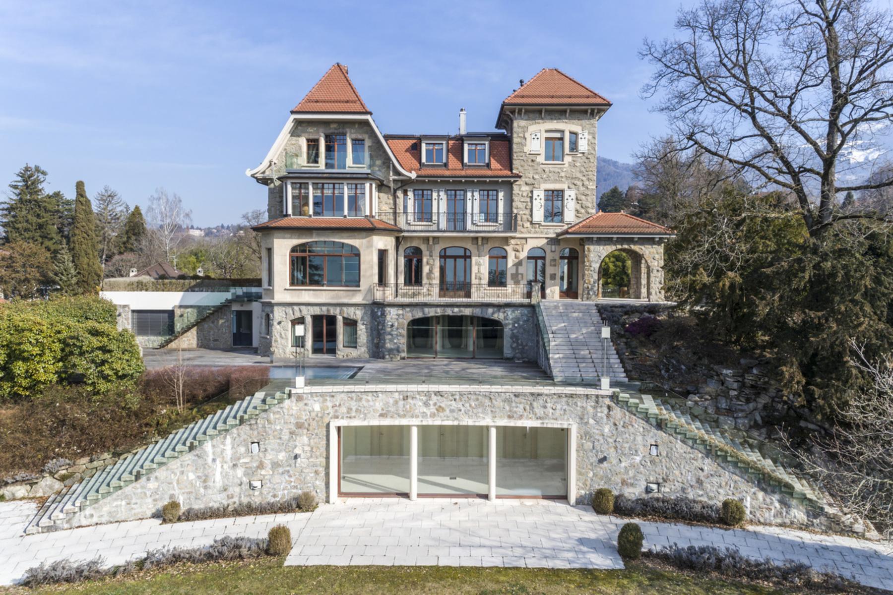 Single Family Home for Active at Sumptuous 14 room mansion Unique views and location Clarens/Montreux Montreux, Vaud 1820 Switzerland