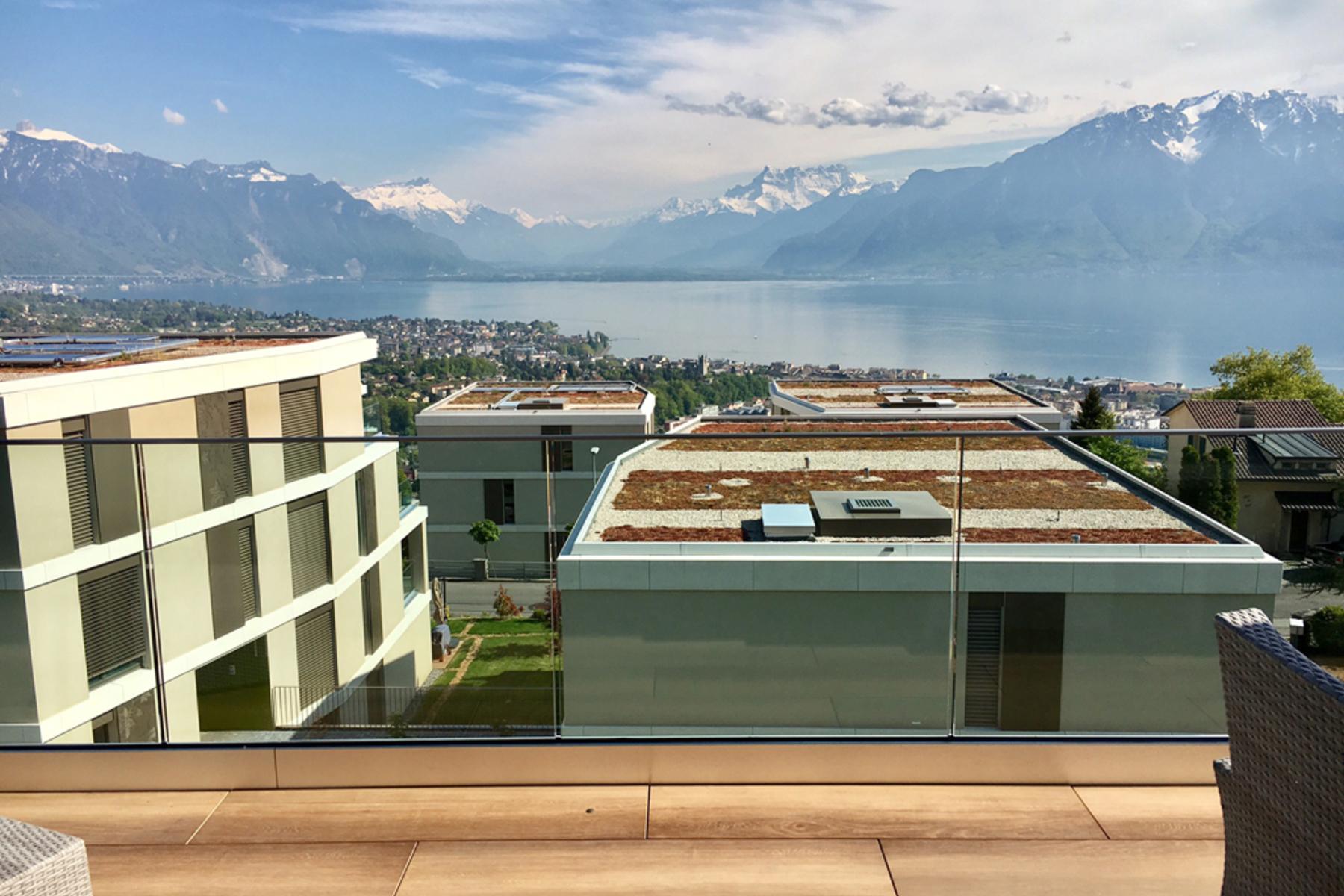 Apartamento por un Venta en Magnificent, modern duplex with 6.5 rooms Stunning views! Jongny Jongny, Vaud, 1805 Suiza