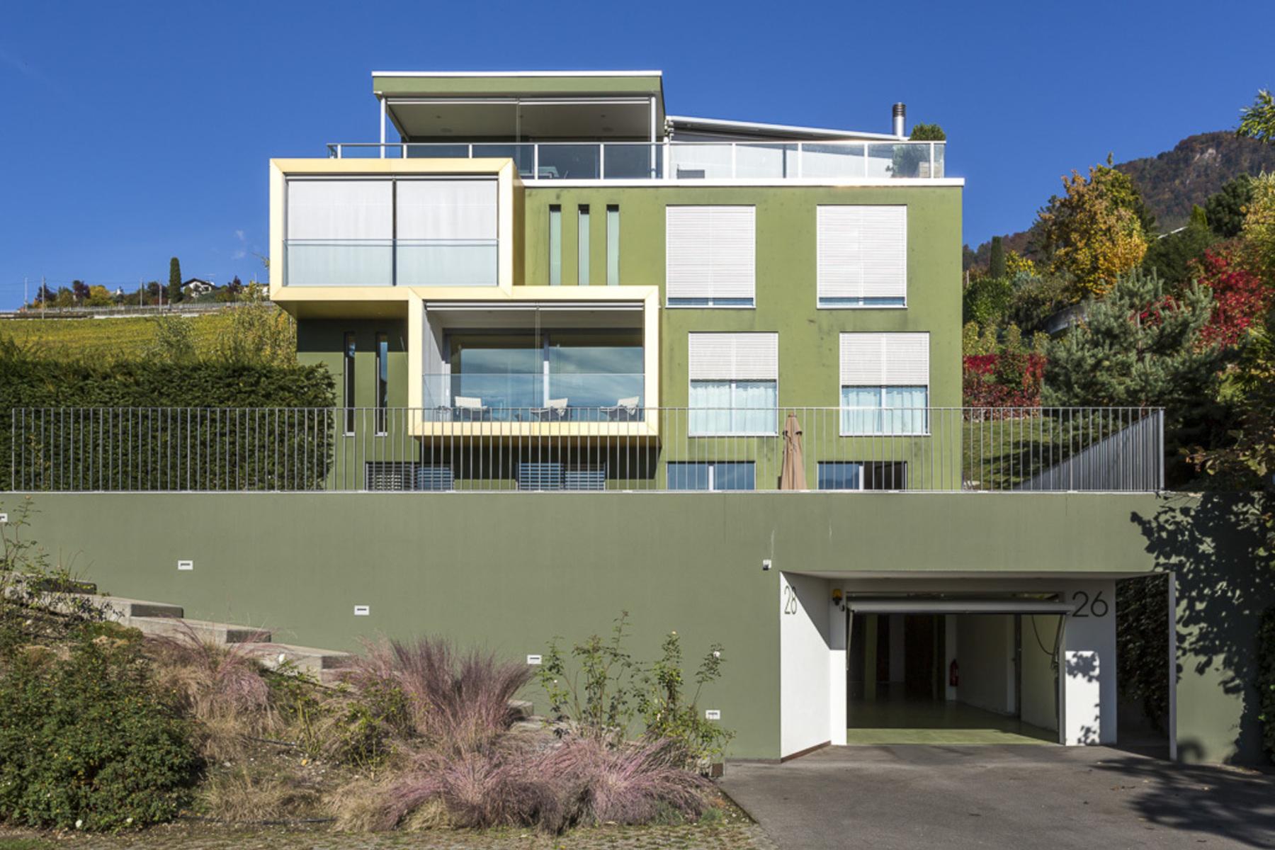 共管式独立产权公寓 为 销售 在 3.5 rooms with garden and view in a contemporary residence Clarens Montreux, Vaud 1820 Switzerland