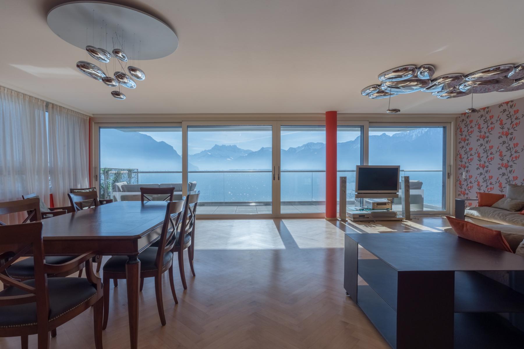 Copropriété pour l Vente à Résidence Villa les Bains 4.5 room penthouse On the lakeshor Montreux, Montreux, Vaud, 1820 Suisse